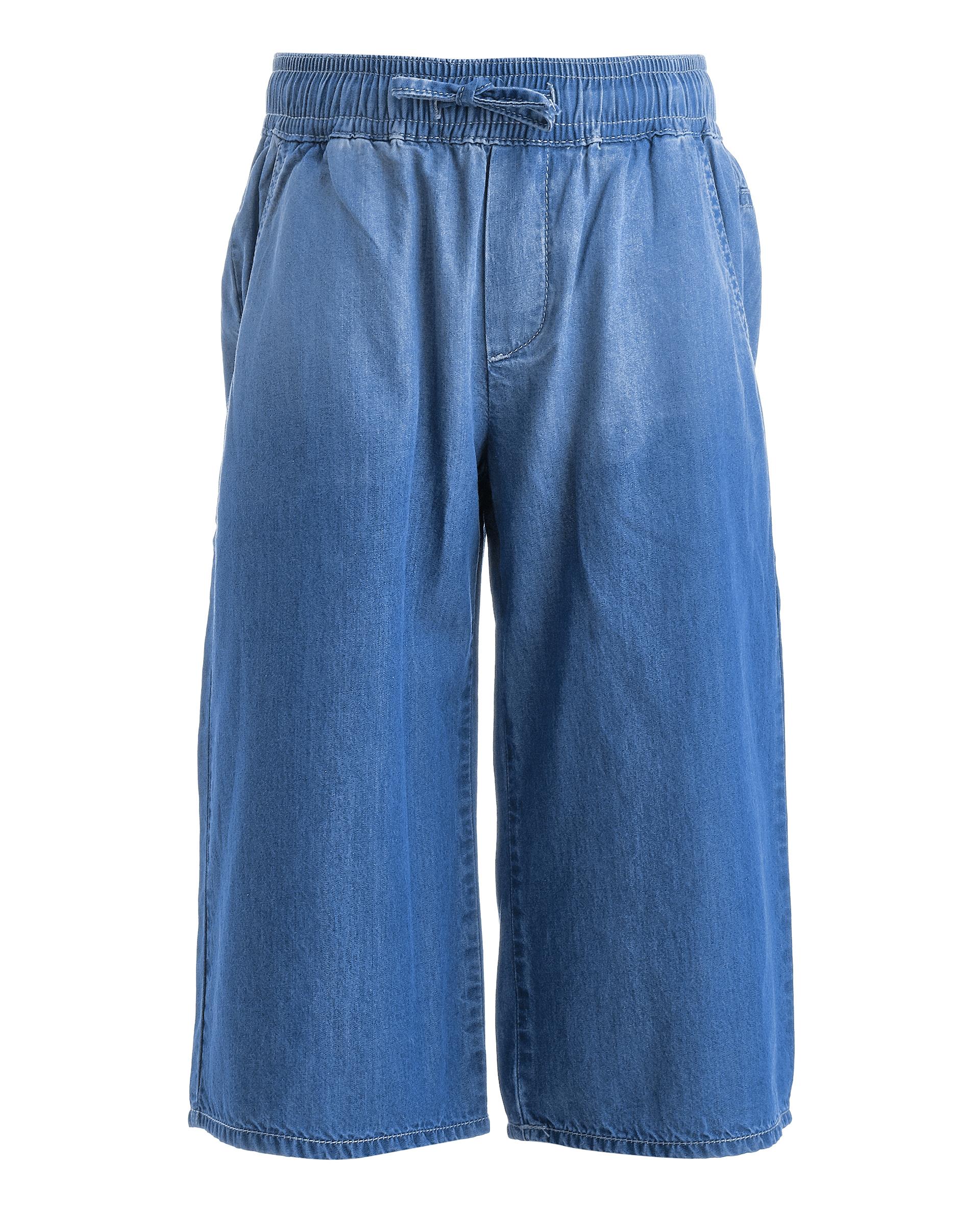 Купить 11901GMC6307, Голубые джинсы-кюлоты Gulliver, голубой, 104, Женский, ВЕСНА/ЛЕТО 2019 (shop: GulliverMarket Gulliver Market)