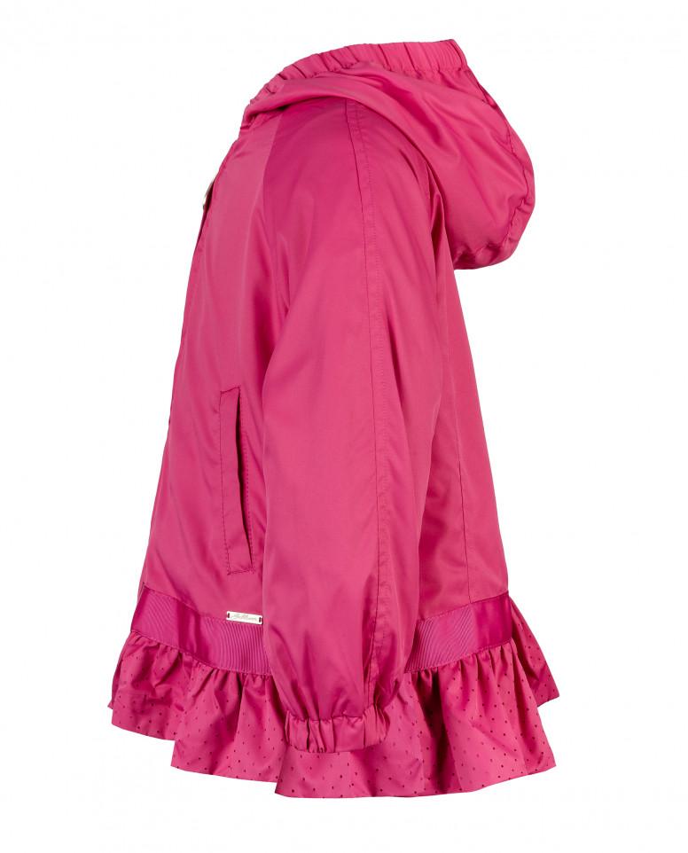 Розовая ветровка с баской Gulliver