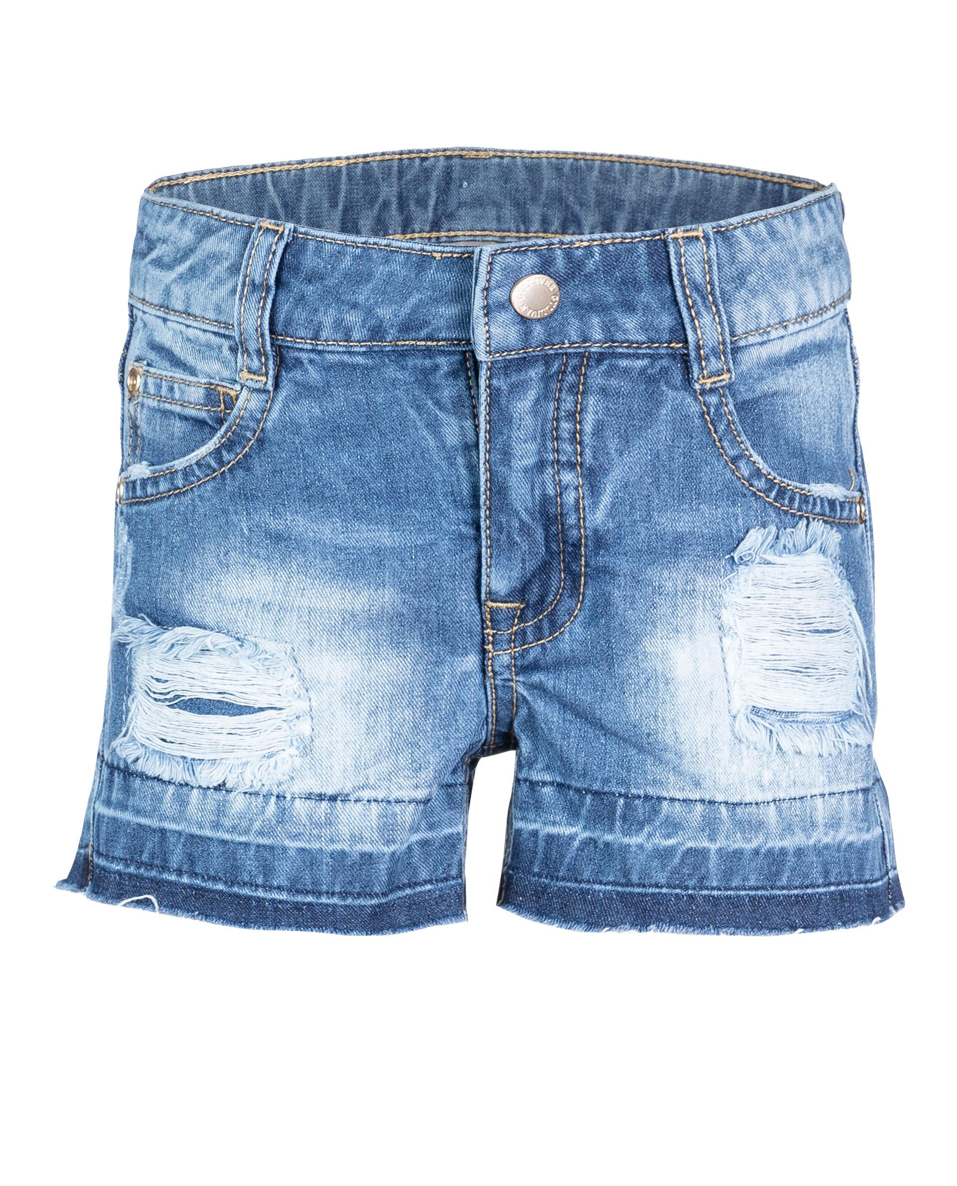 Купить 11902GMC6001, Синие джинсовые шорты Gulliver, синий, 110, Женский, ВЕСНА/ЛЕТО 2019 (shop: GulliverMarket Gulliver Market)