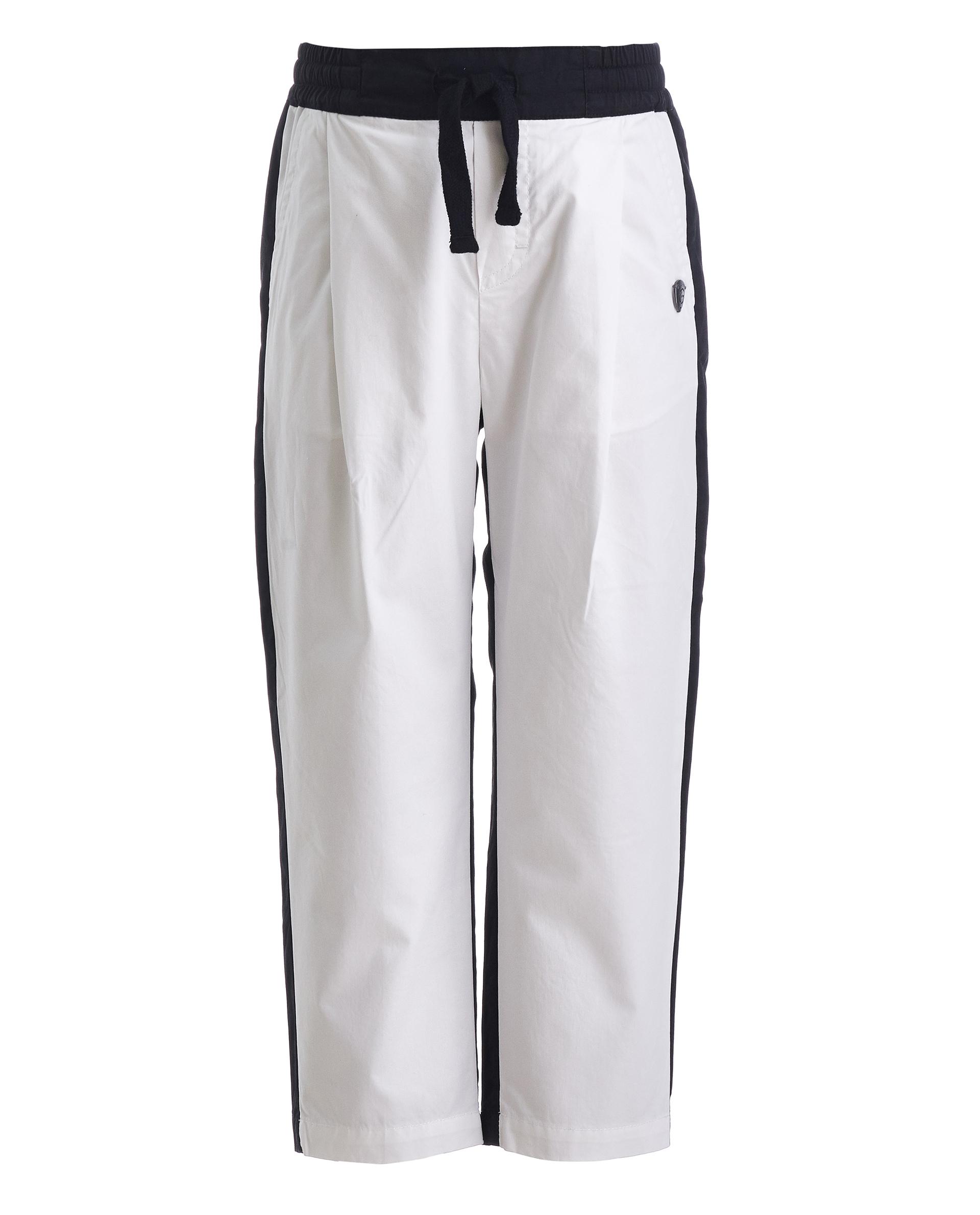Купить 11905BMC6303, Двуцветные брюки на резинке Gulliver, белый, 104, Мужской, ВЕСНА/ЛЕТО 2019 (shop: GulliverMarket Gulliver Market)