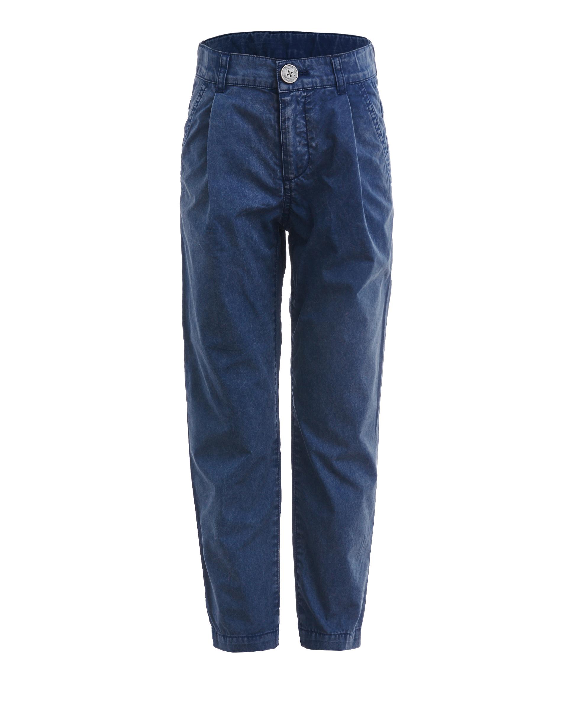 Купить 11906BMC6305, Синие брюки с винтажным эффектом Gulliver, синий, 128, Мужской, ВЕСНА/ЛЕТО 2019 (shop: GulliverMarket Gulliver Market)
