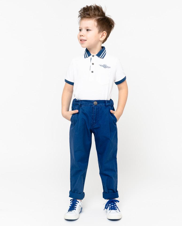 Синие брюки с винтажным эффектом Gulliver
