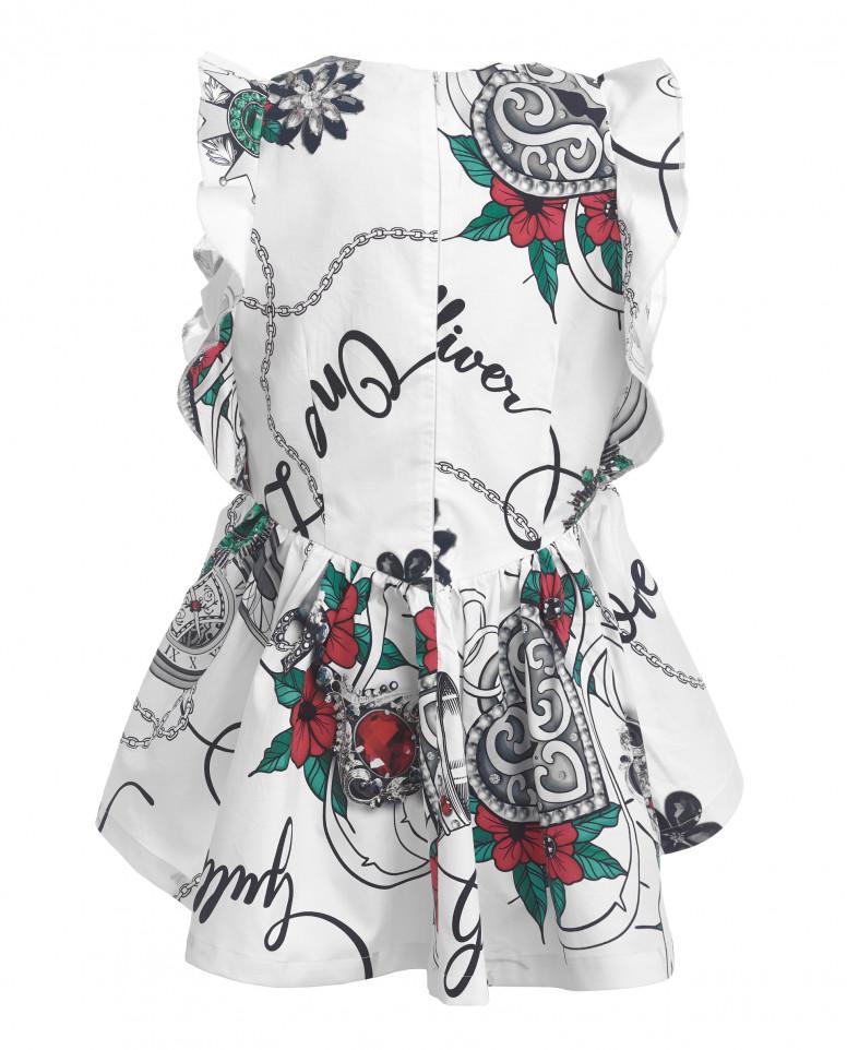 Блузка с цветочным принтом Gulliver