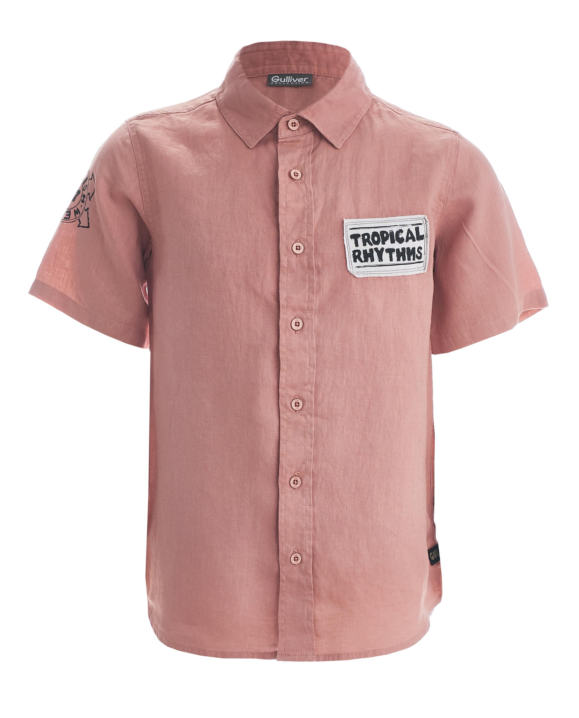 Купить 11911BJC2302, Розовая рубашка с коротким рукавом Gulliver, розовый, 134, Мужской, ВЕСНА/ЛЕТО 2019 (shop: GulliverMarket Gulliver Market)