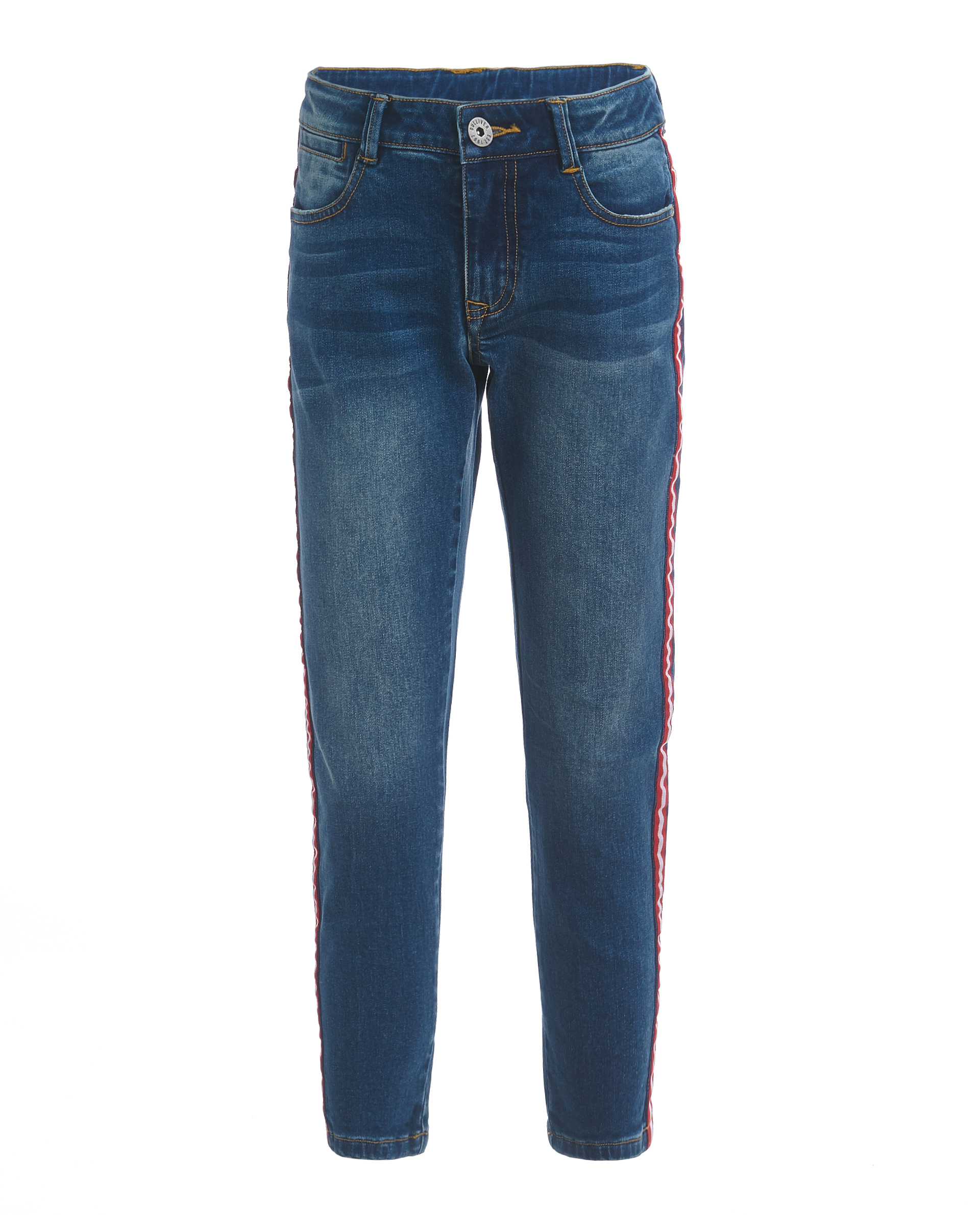Купить 11912BJC6308, Голубые джинсы с лампасами Gulliver, голубой, 158, Мужской, ВЕСНА/ЛЕТО 2019 (shop: GulliverMarket Gulliver Market)