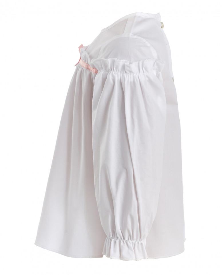 Белая блузка с бантом Gulliver
