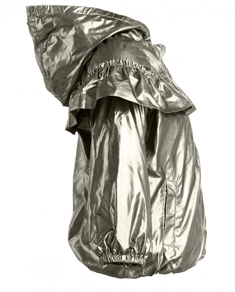 Золотистая ветровка с рюшей Gulliver