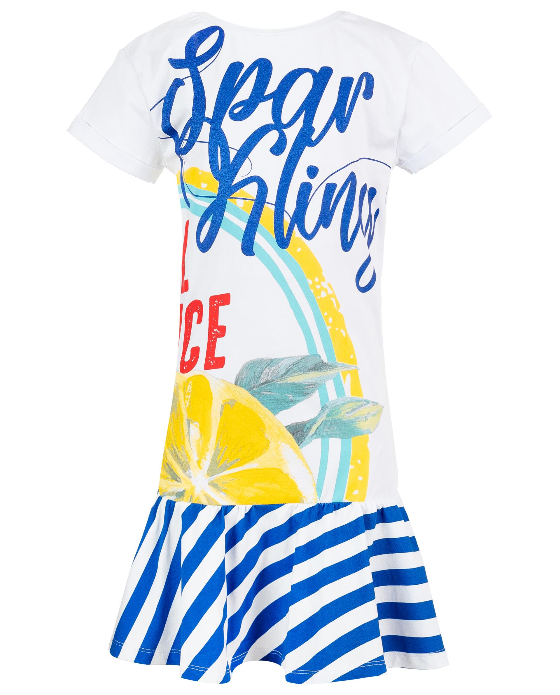 Купить 119FGC5001, Белое платье с принтом Gulliver, белый, 146, Женский, ВЕСНА/ЛЕТО 2019 (shop: GulliverMarket Gulliver Market)