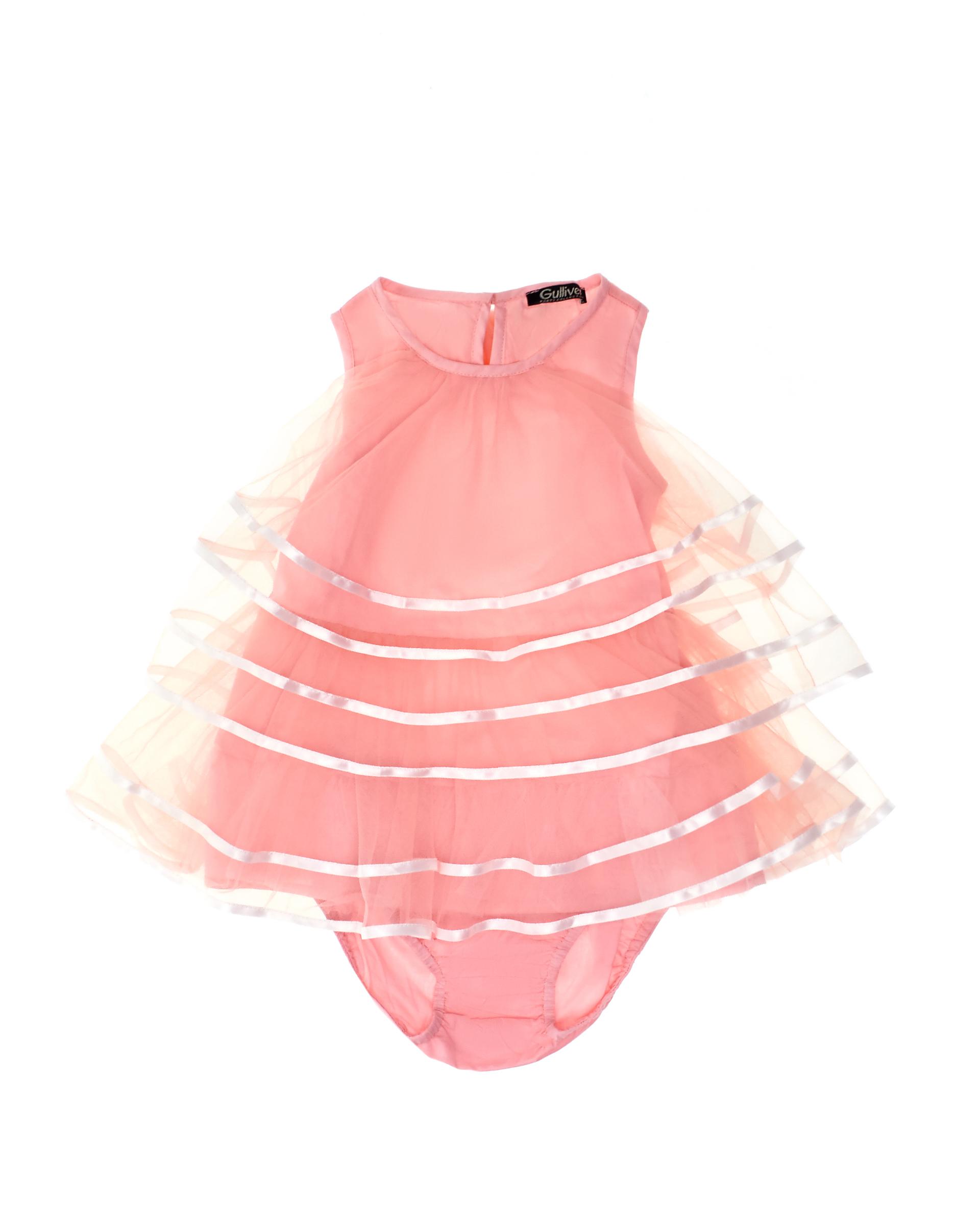 Купить 119GPGBC2901, Комплект из платья и трусов Gulliver, Gulliver Baby, розовый, 86, Женский, ВЕСНА/ЛЕТО 2019 (shop: GulliverMarket Gulliver Market)