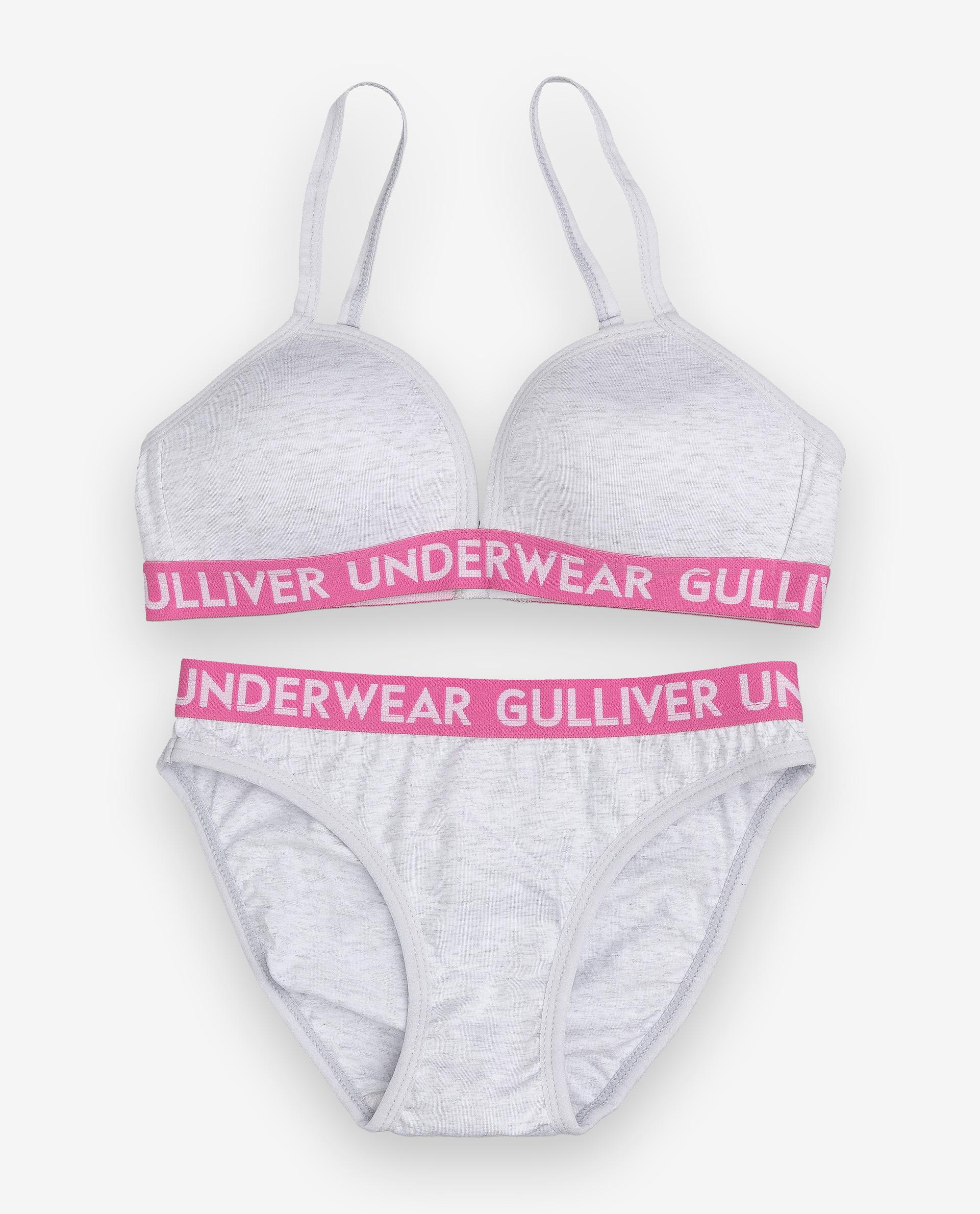 Купить 12000GC9610, Комплект из топа и трусов Gulliver, серый, 146-152, Женский, ОСЕНЬ/ЗИМА 2020-2021 (shop: GulliverMarket Gulliver Market)