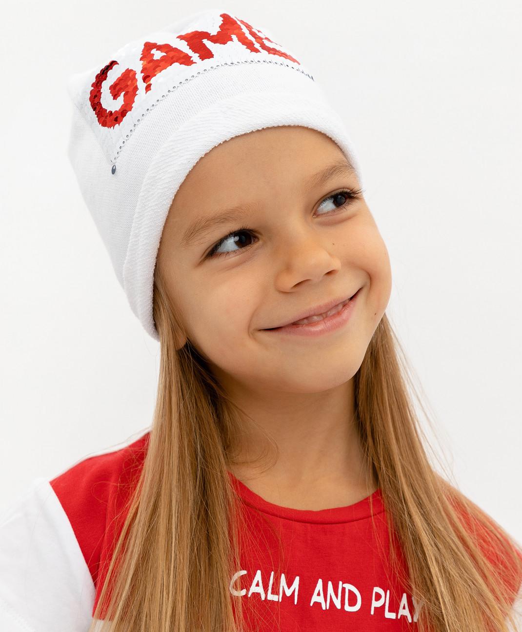 Gulliver Белая трикотажная шапка Gulliver