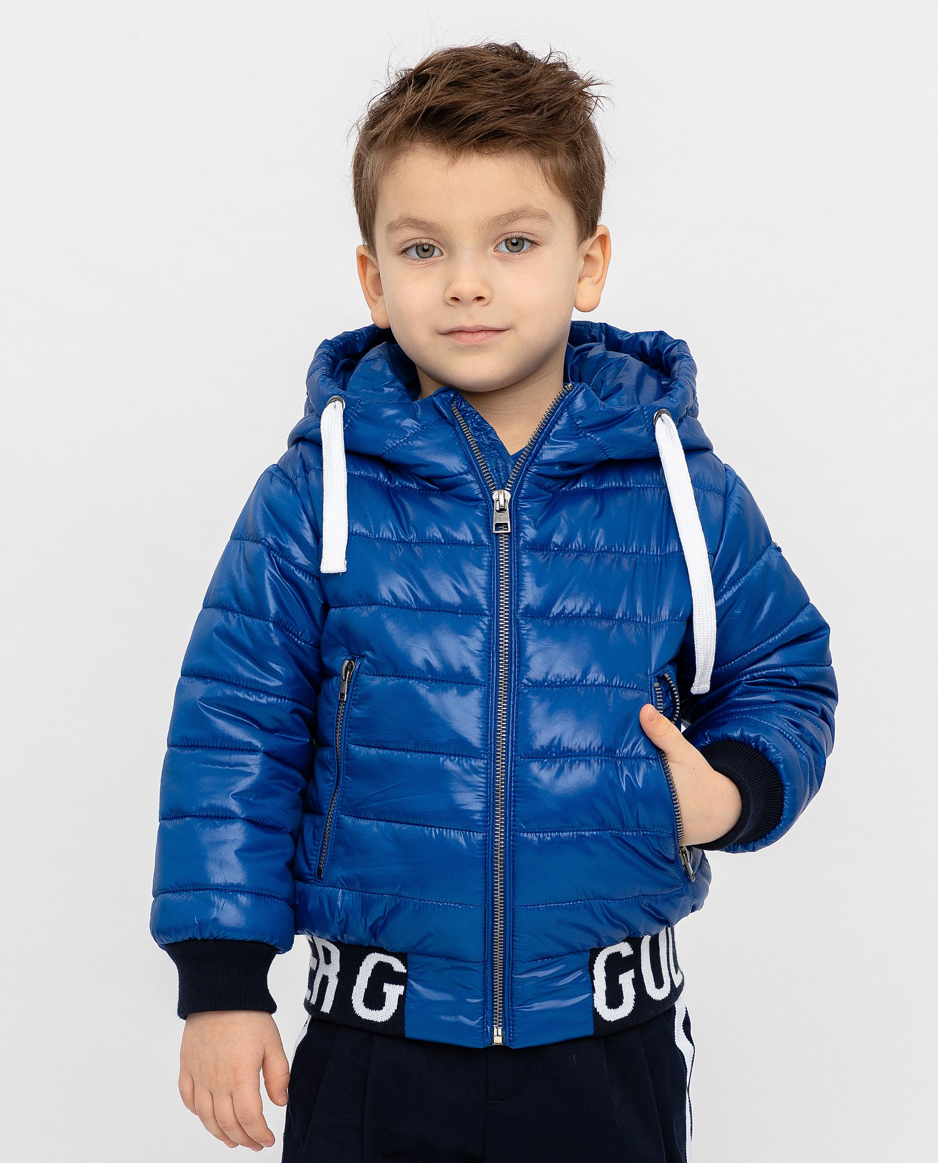 Синяя демисезонная куртка Gulliver 12004BMC4101 синего цвета