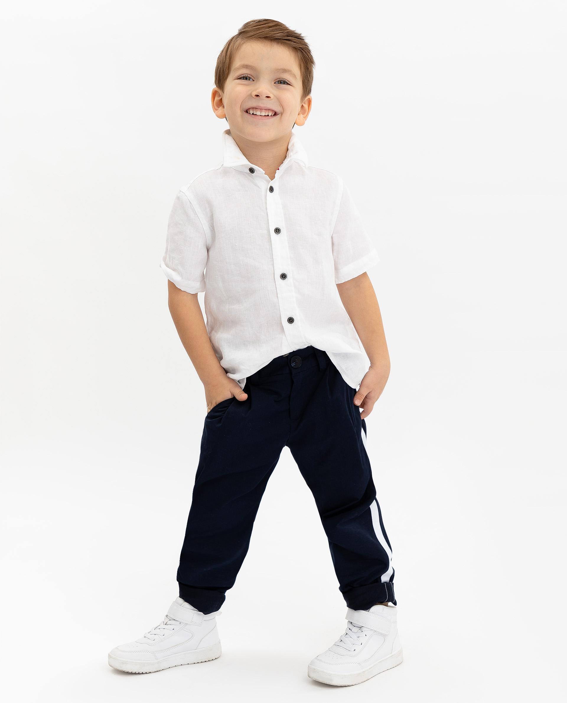 Купить 12004BMC6301, Синие брюки с лампасами Gulliver, синий, 122, Мужской, ВЕСНА/ЛЕТО 2020 (shop: GulliverMarket Gulliver Market)