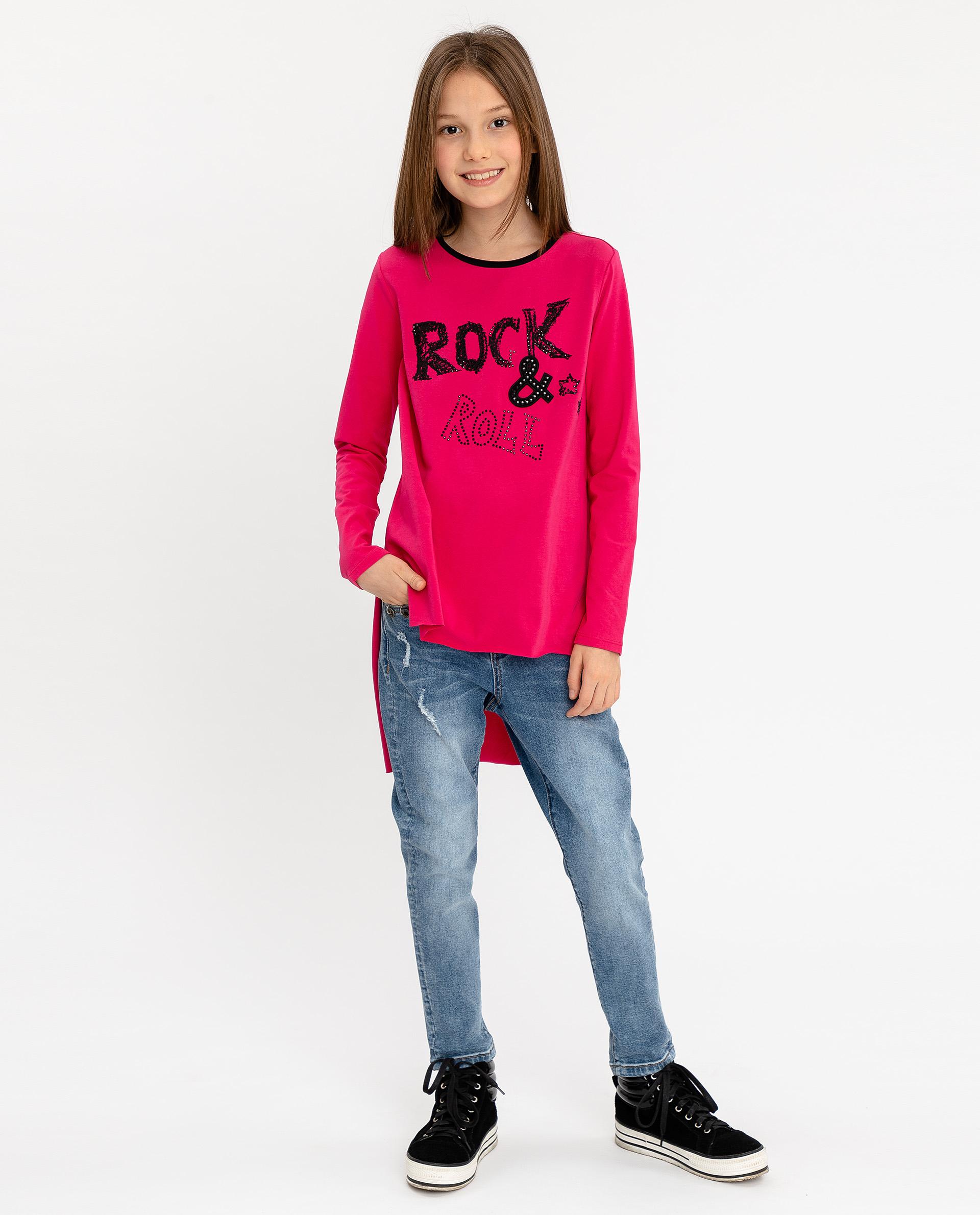 Купить 12007GJC1201, Розовая туника с удлиненной спинкой Gulliver, розовый, 164, Женский, ОСЕНЬ/ЗИМА 2020-2021 (shop: GulliverMarket Gulliver Market)