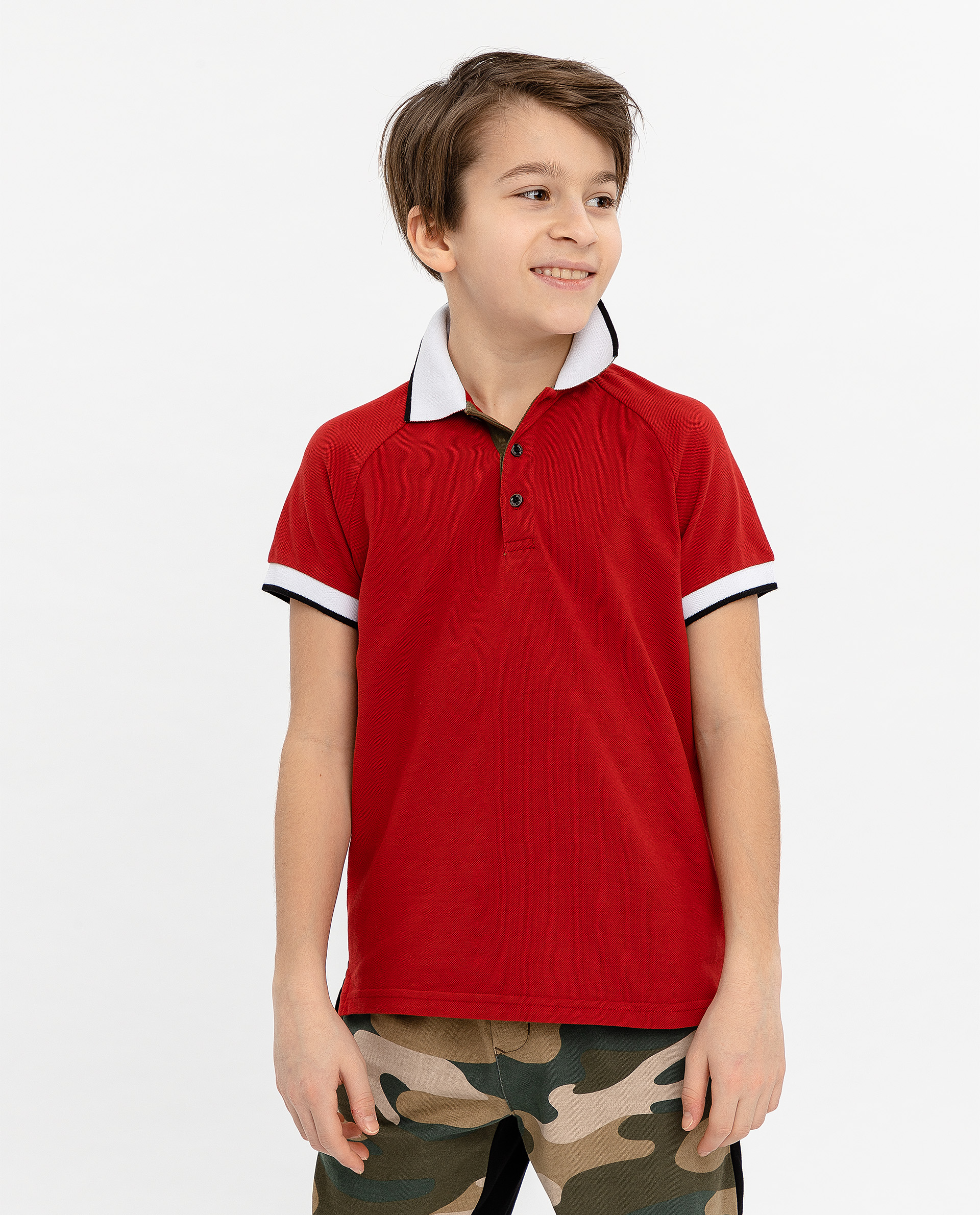 Купить 12010BJC1402, Красное поло Gulliver, красный, 134, Мужской, ВЕСНА/ЛЕТО 2020 (shop: GulliverMarket Gulliver Market)