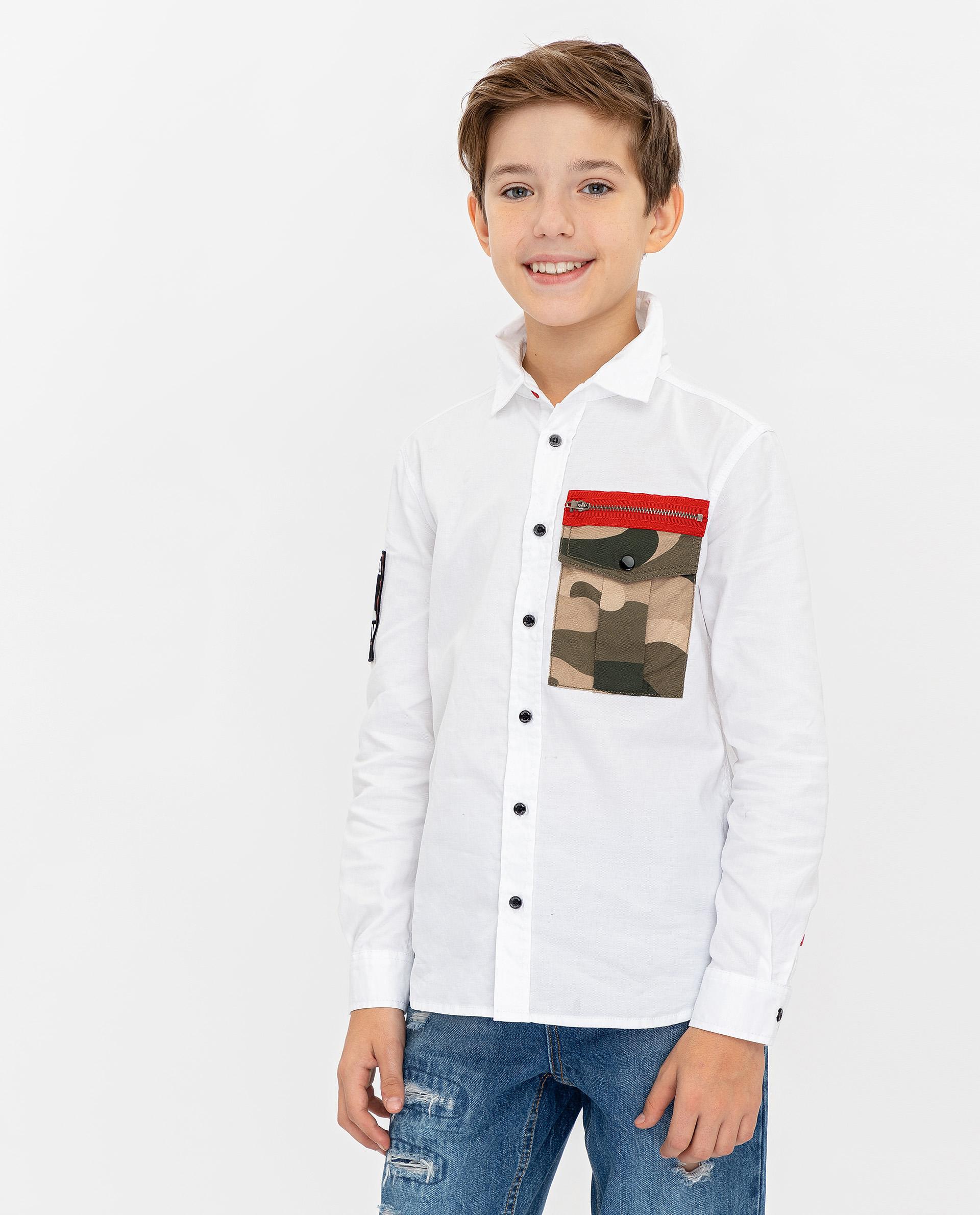 Купить 12010BJC2301, Белая рубашка Gulliver, белый, 134, Мужской, ВЕСНА/ЛЕТО 2020 (shop: GulliverMarket Gulliver Market)