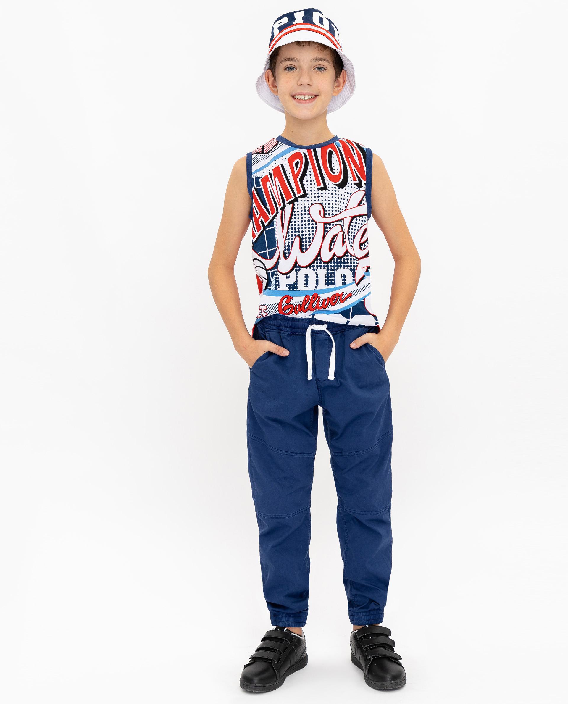 Купить 12012BJC6307, Синие брюки Gulliver, синий, 146, Мужской, ВЕСНА/ЛЕТО 2020 (shop: GulliverMarket Gulliver Market)