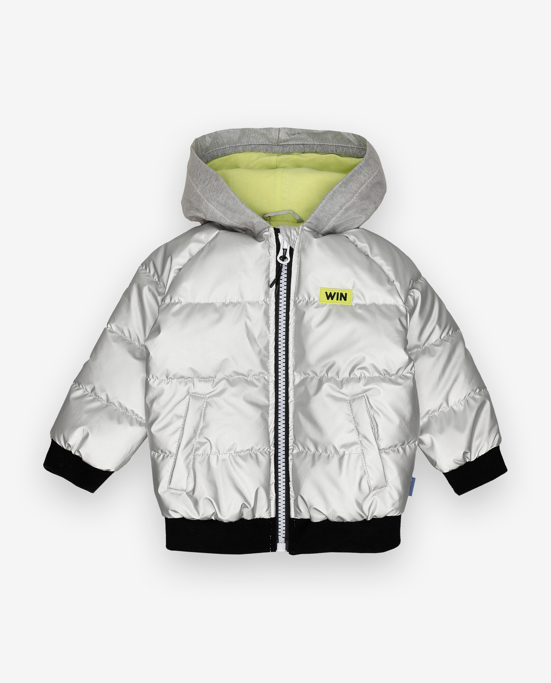 Купить 12034BBC4102, Серебристая демисезонная куртка Gulliver, Gulliver Baby, серебряный, 74, Мужской, ОСЕНЬ/ЗИМА 2020-2021 (shop: GulliverMarket Gulliver Market)