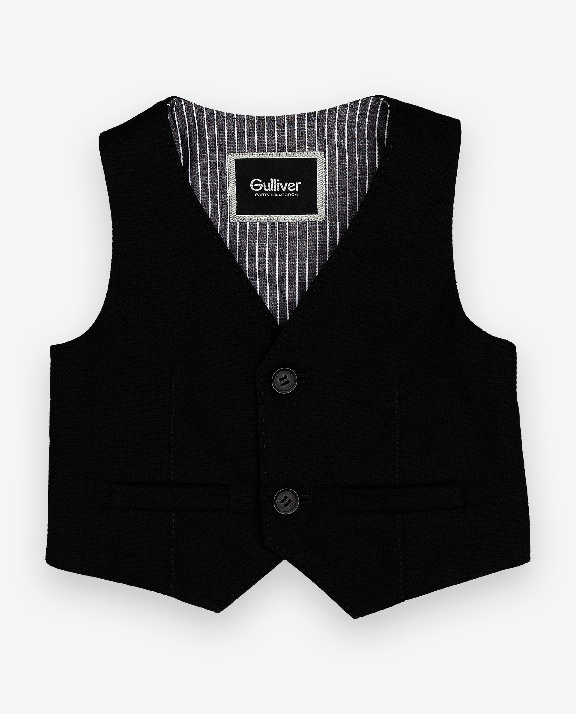 Купить 120GPBBC4702, Черный нарядный жилет Gulliver, Gulliver Baby, черный, 86, Мужской, ОСЕНЬ/ЗИМА 2020-2021 (shop: GulliverMarket Gulliver Market)