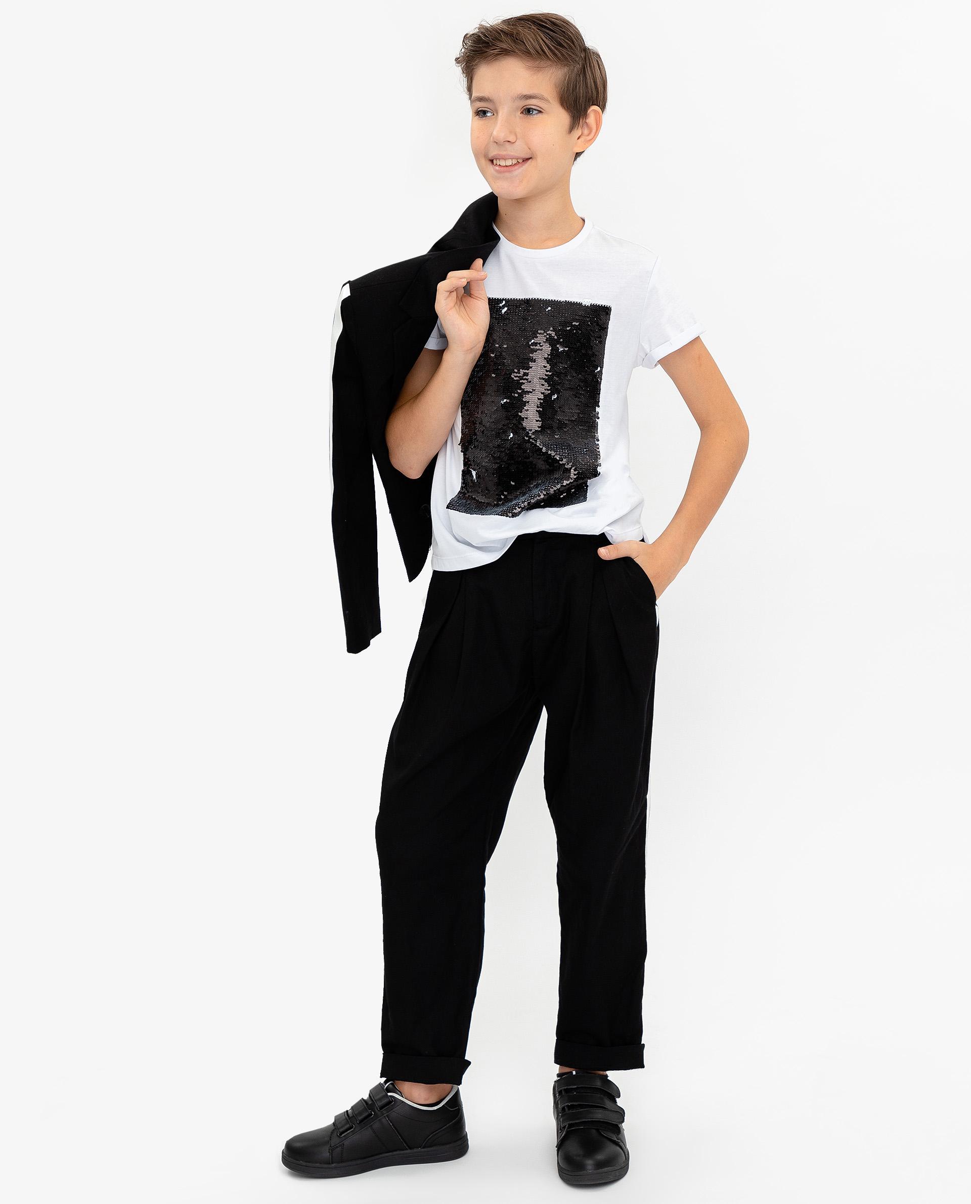 Купить 120GPBJC6302, Черные брюки Gulliver, черный, 140, Мужской, ОСЕНЬ/ЗИМА 2020-2021 (shop: GulliverMarket Gulliver Market)
