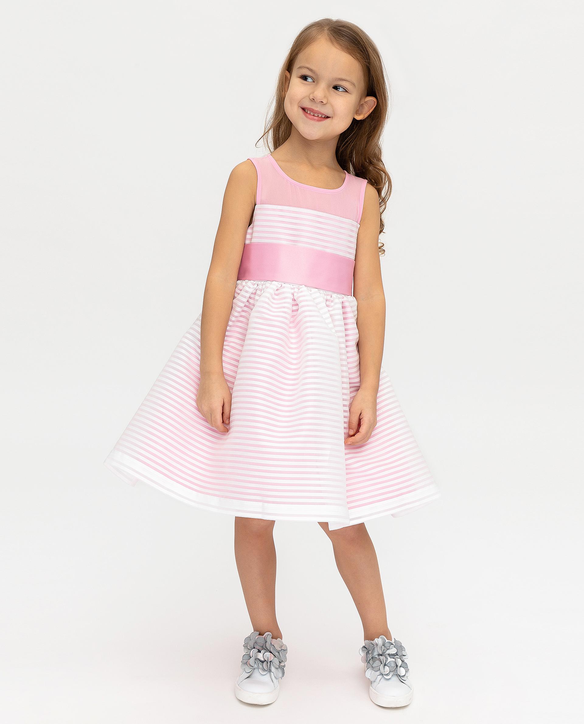 Купить 120GPGMC2504, Розовое нарядное платье Gulliver, розовый, 116, Женский, ВЕСНА/ЛЕТО 2020 (shop: GulliverMarket Gulliver Market)