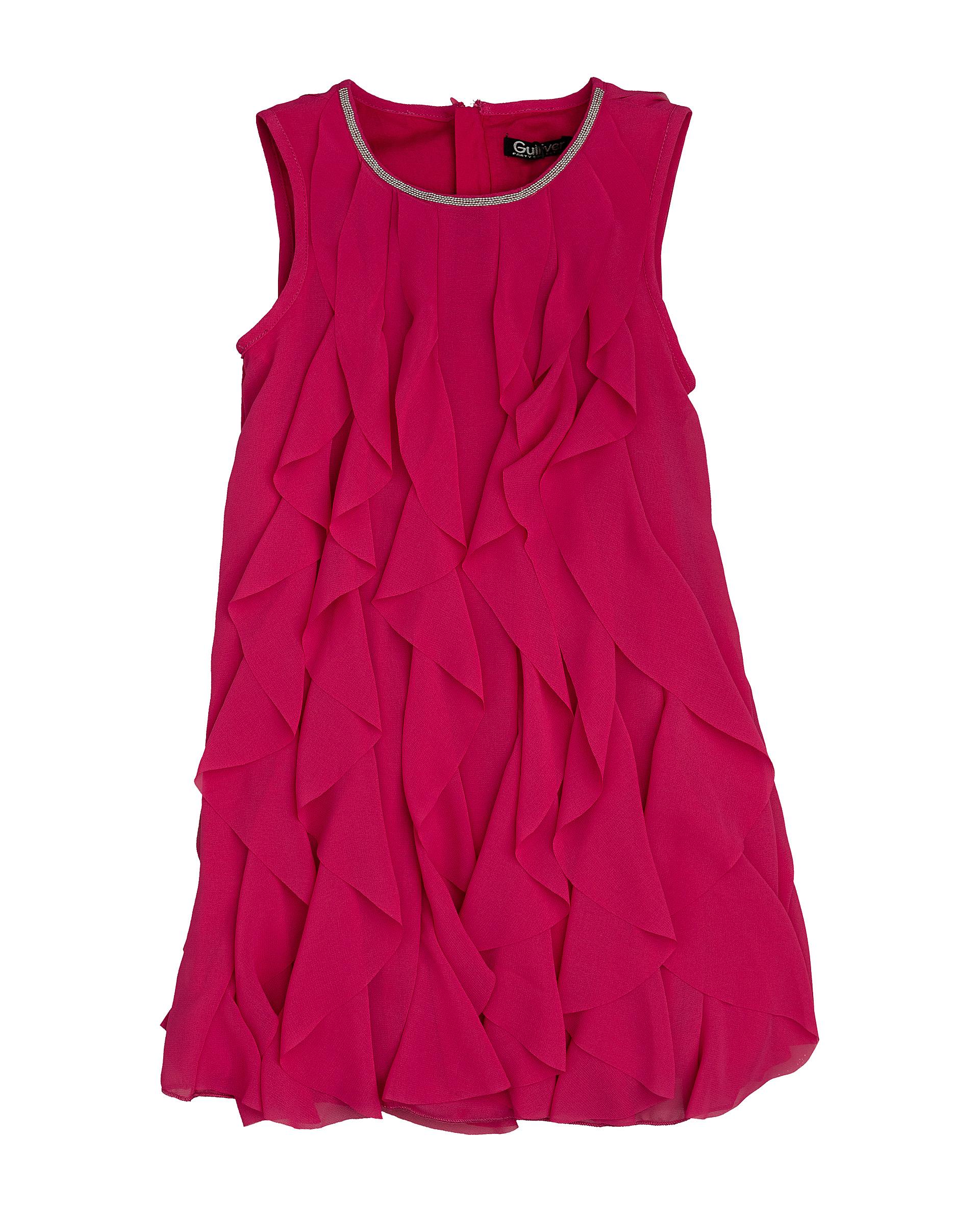 Купить 120GPGMC2507, Розовое нарядное платье Gulliver, фуксия, 116, Женский, ВЕСНА/ЛЕТО 2020 (shop: GulliverMarket Gulliver Market)