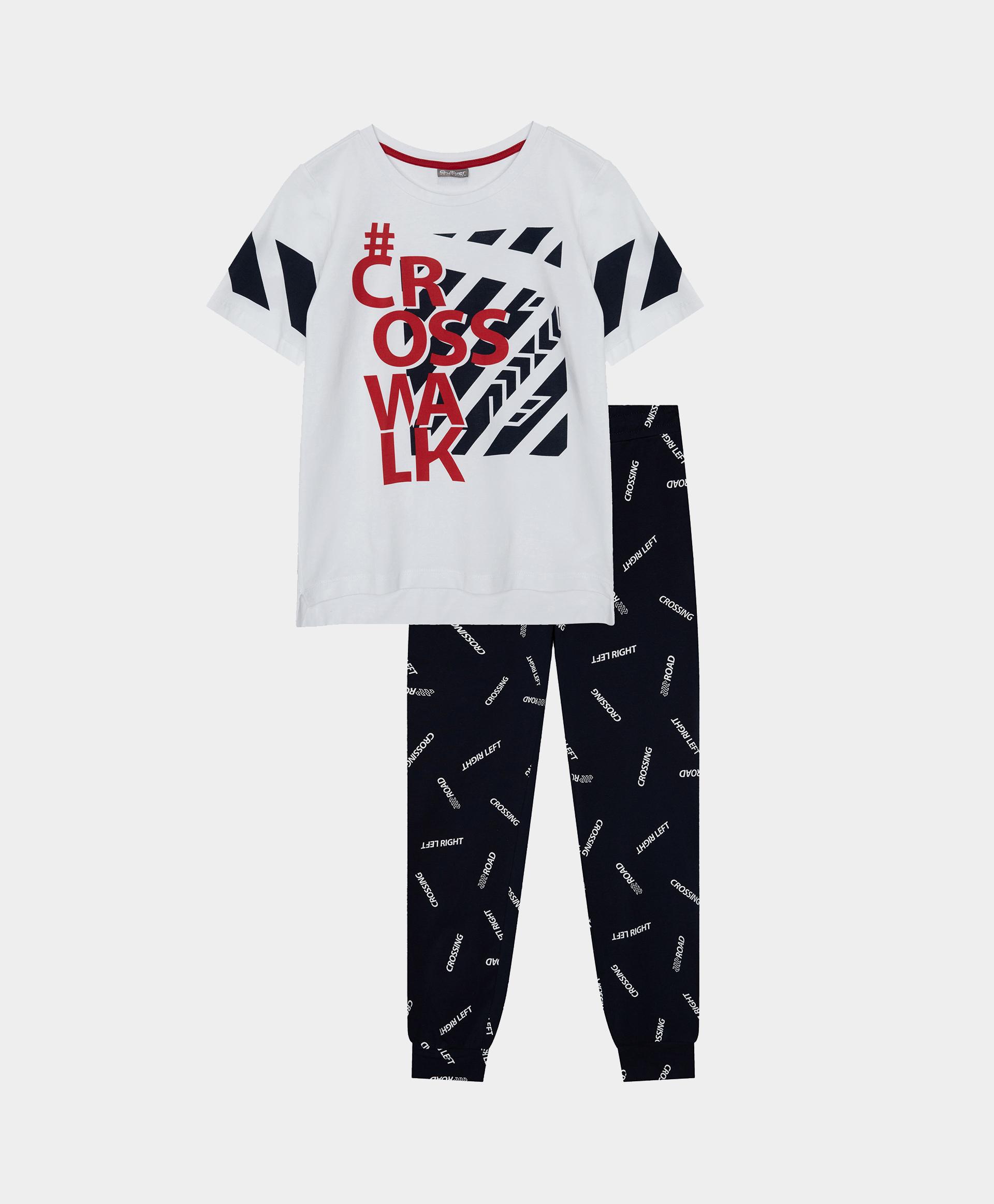 Купить 12100BC9702, Пижама с брюками Gulliver, мультицвет, 146-152, Хлопок, Мужской, Лето, ВЕСНА/ЛЕТО 2021 (shop: GulliverMarket Gulliver Market)