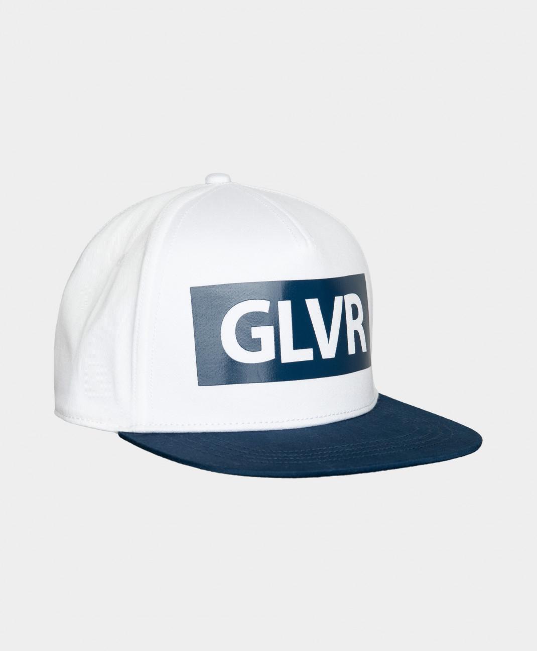 Gulliver Бейсболка сине-белая с принтом Gulliver