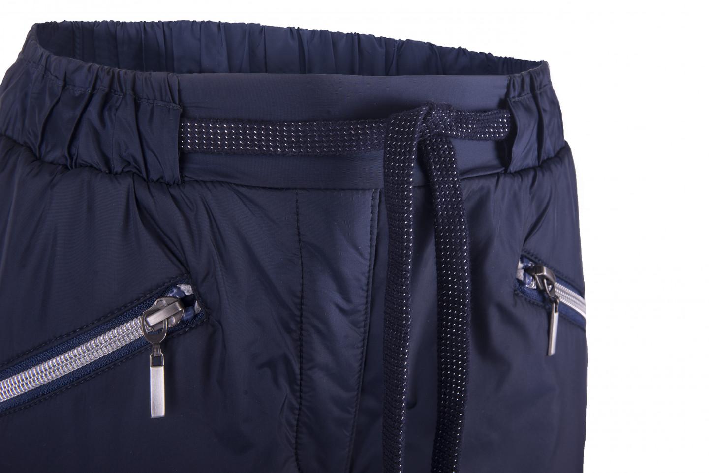 Синие брюки с манжетами на резинке Gulliver