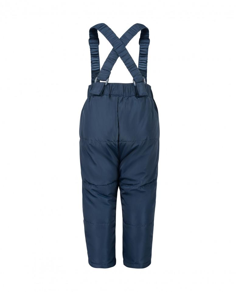 Синие брюки с отстегивающимися бретелями Gulliver
