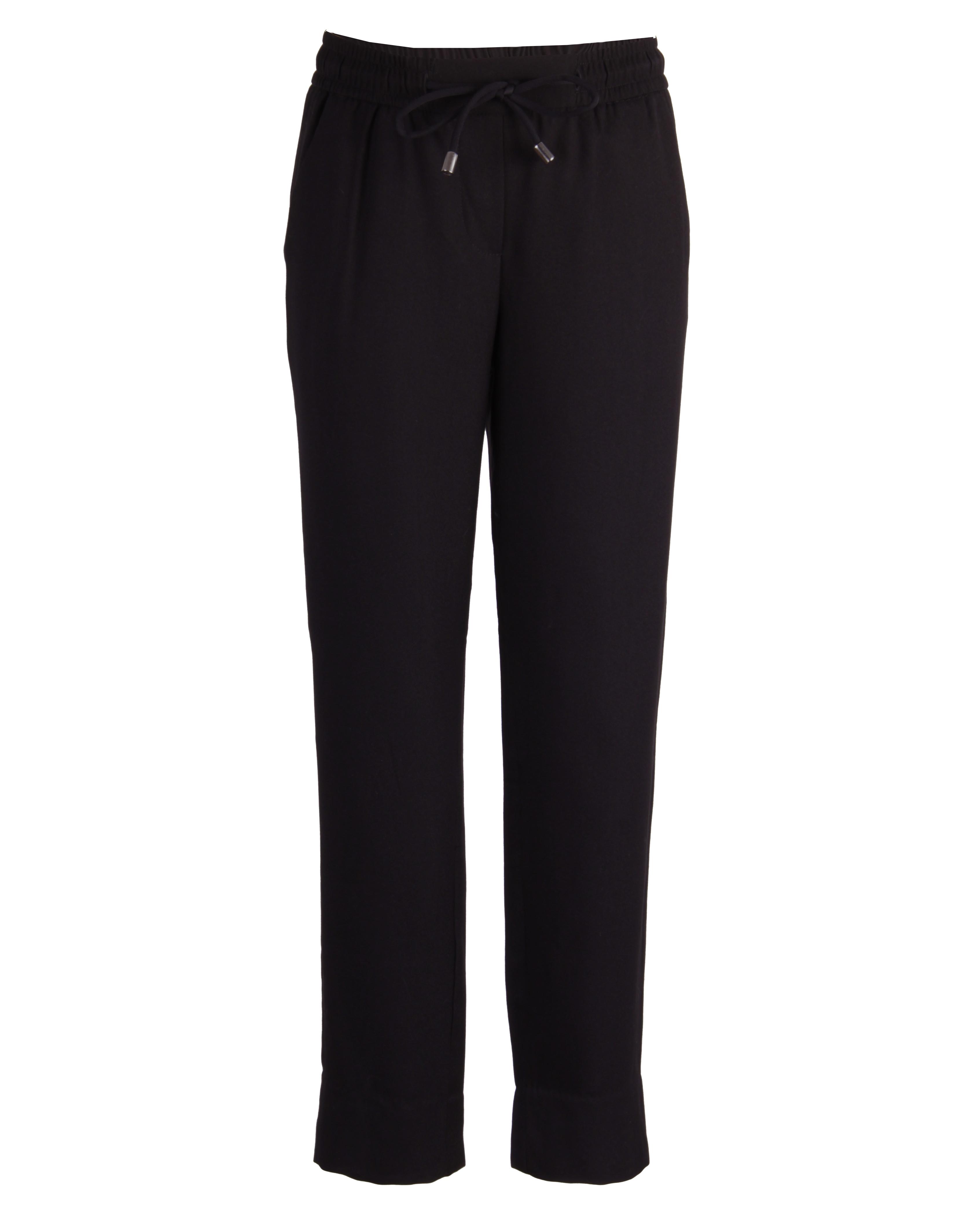 Черные брюки на резинке Gulliver