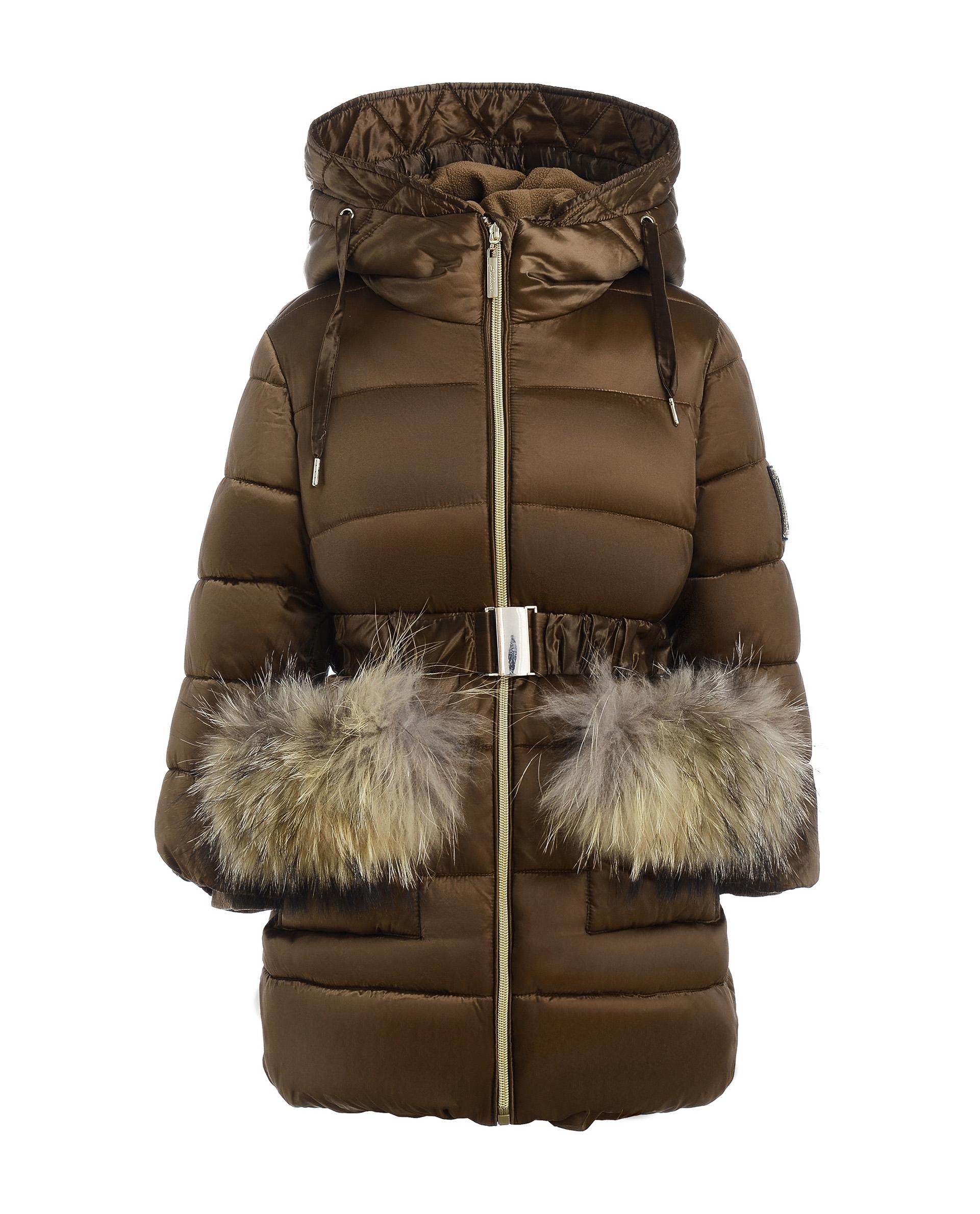 Купить 21902GMC4505, Бежевое зимнее пальто Gulliver, бежевый, 98, Женский, ОСЕНЬ/ЗИМА 2020-2021 (shop: GulliverMarket Gulliver Market)