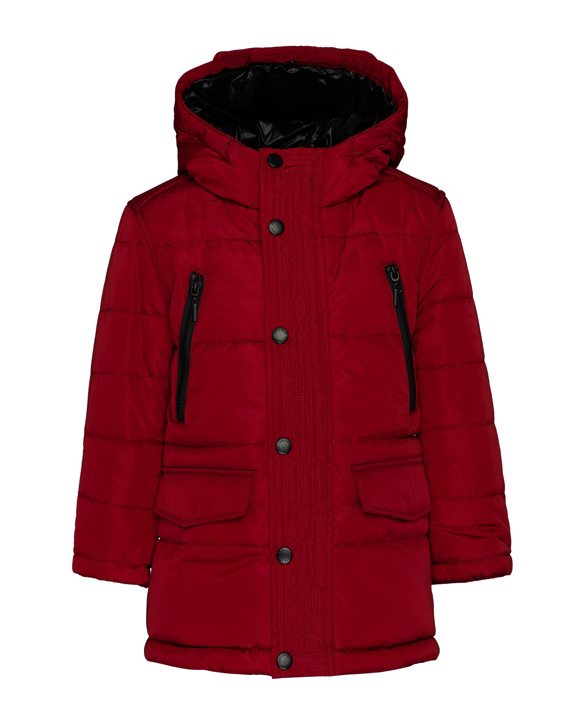 Купить 21905BMC4504, Красное демисезонное полупальто Gulliver, красный, 116, Мужской, ОСЕНЬ/ЗИМА 2020-2021 (shop: GulliverMarket Gulliver Market)