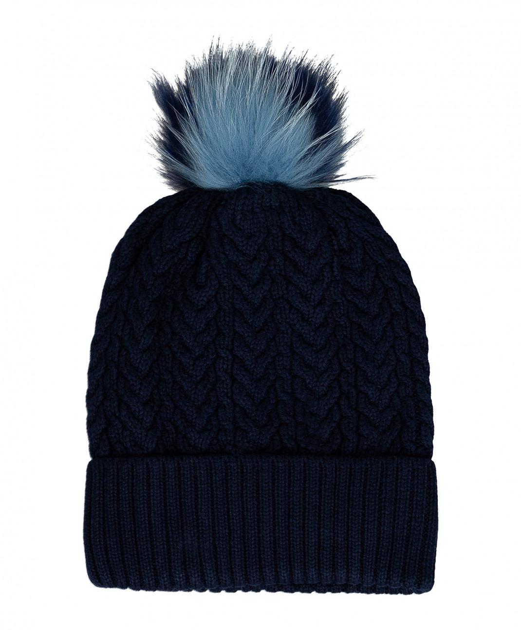 Gulliver Синяя вязаная шапка на подкладке Gulliver
