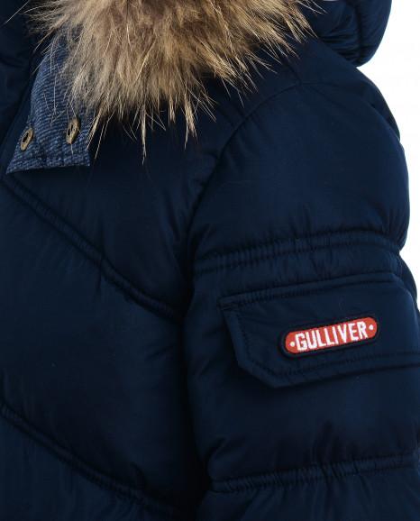 Синяя зимняя куртка Gulliver