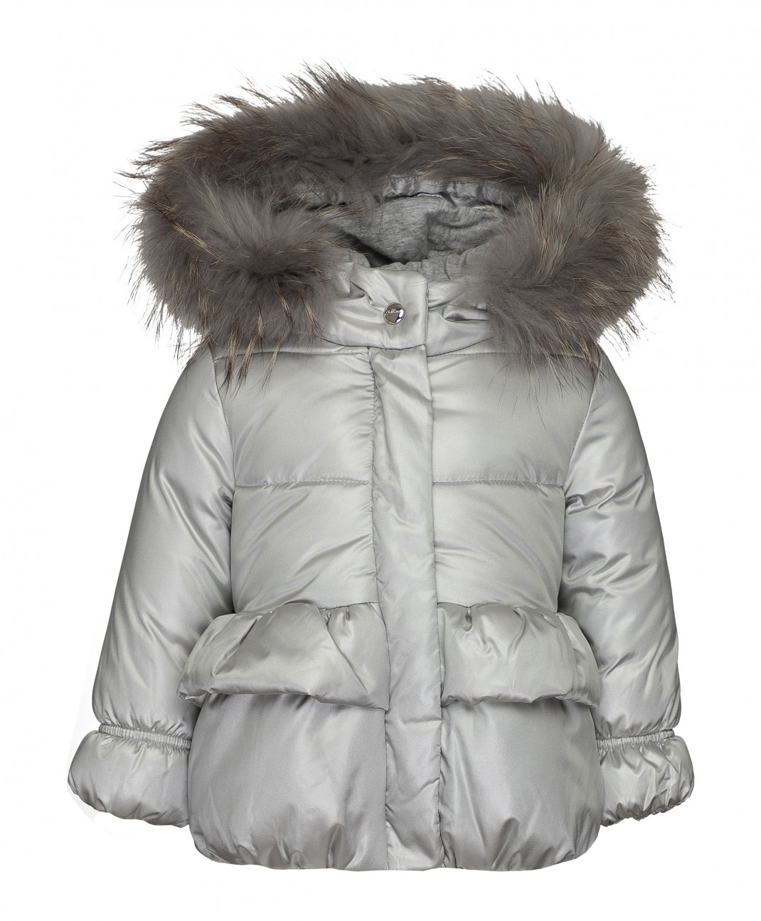 Gulliver Baby Зимняя куртка серебряного цвета Gulliver