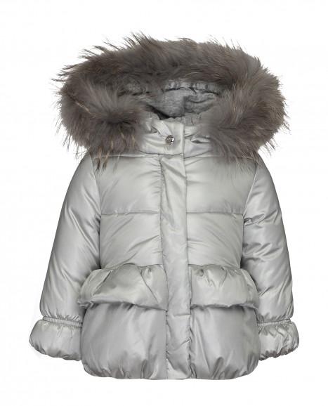 Зимняя куртка серебряного цвета Gulliver