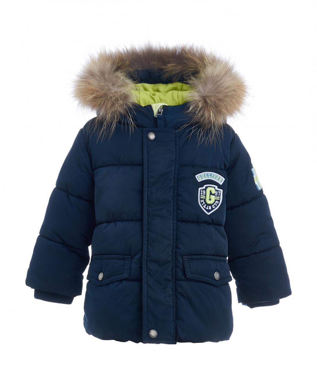 Gulliver Baby Синяя зимняя куртка Gulliver