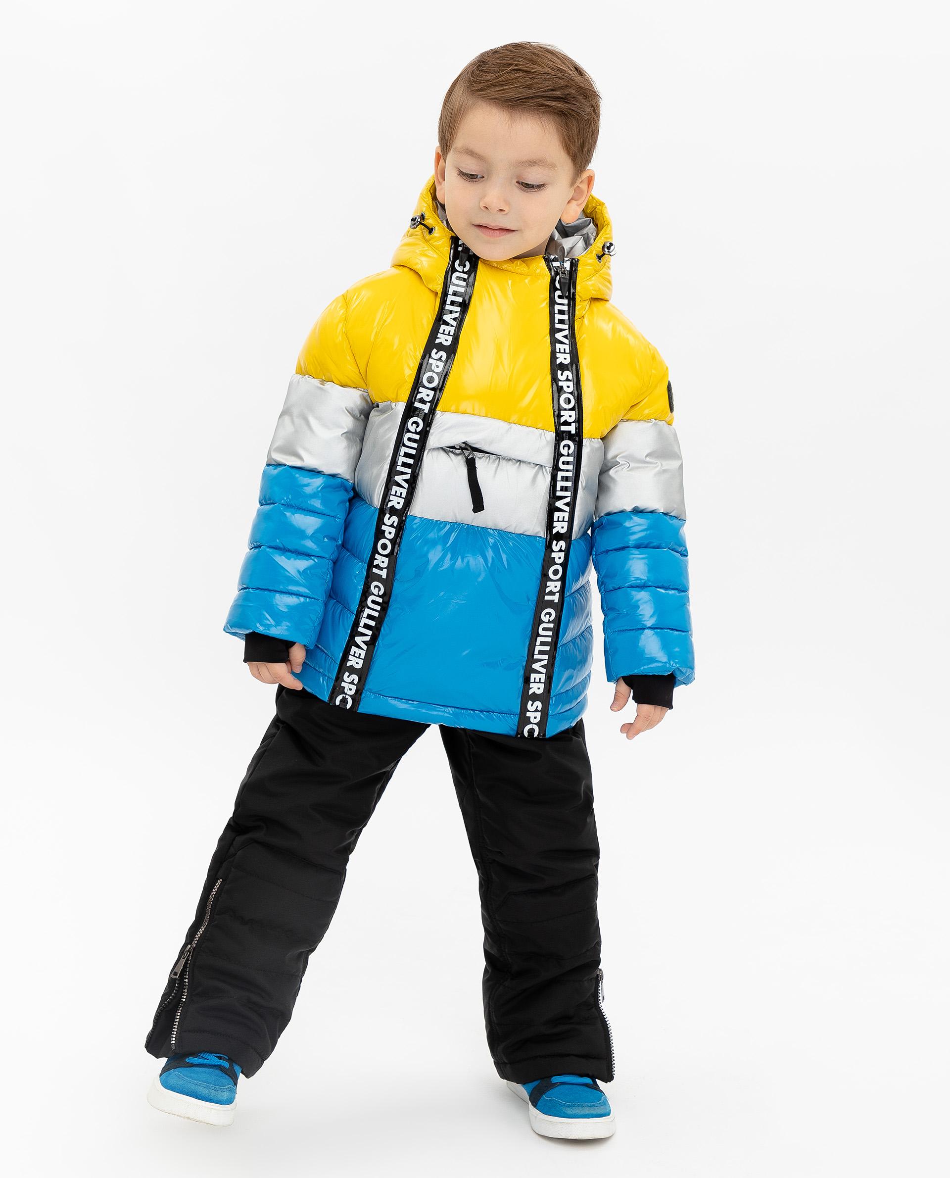 Купить 219FBC4101, Зимняя куртка Gulliver, желтый, 104, Мужской, ОСЕНЬ/ЗИМА 2019-2020 (shop: GulliverMarket Gulliver Market)