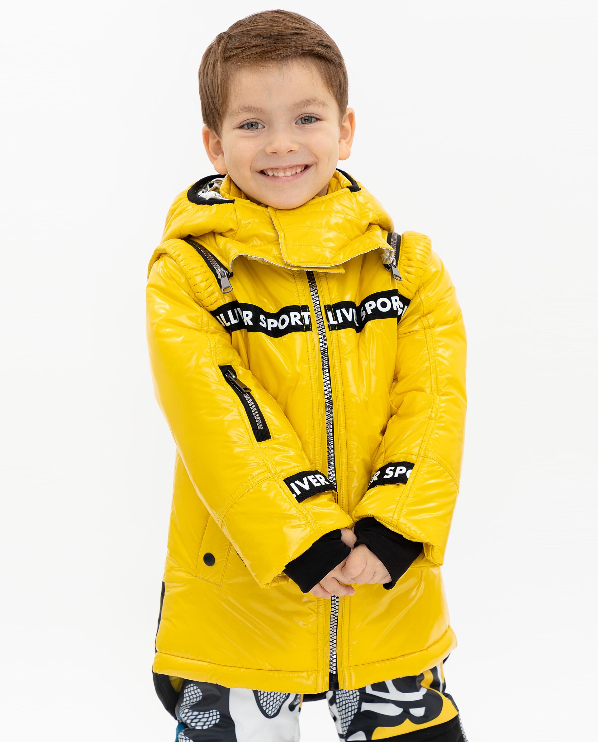 Купить 219FBC4104, Удлиненная зимняя куртка Gulliver, желтый, 164, Мужской, ОСЕНЬ/ЗИМА 2019-2020 (shop: GulliverMarket Gulliver Market)