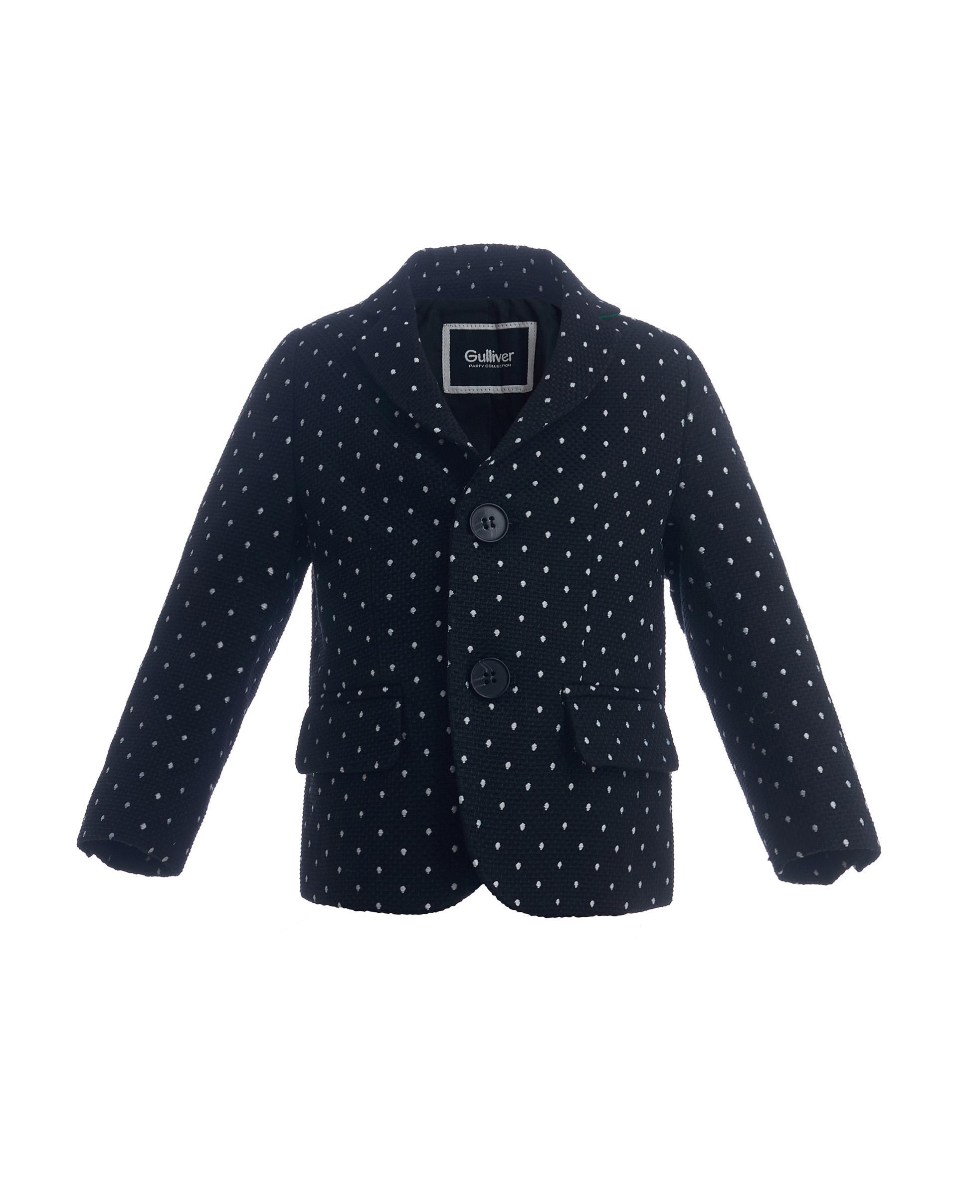 Купить 219GPBBC4801, Черный пиджак в горошек Gulliver, Gulliver Baby, черный, 86, Мужской, ОСЕНЬ/ЗИМА 2020-2021 (shop: GulliverMarket Gulliver Market)