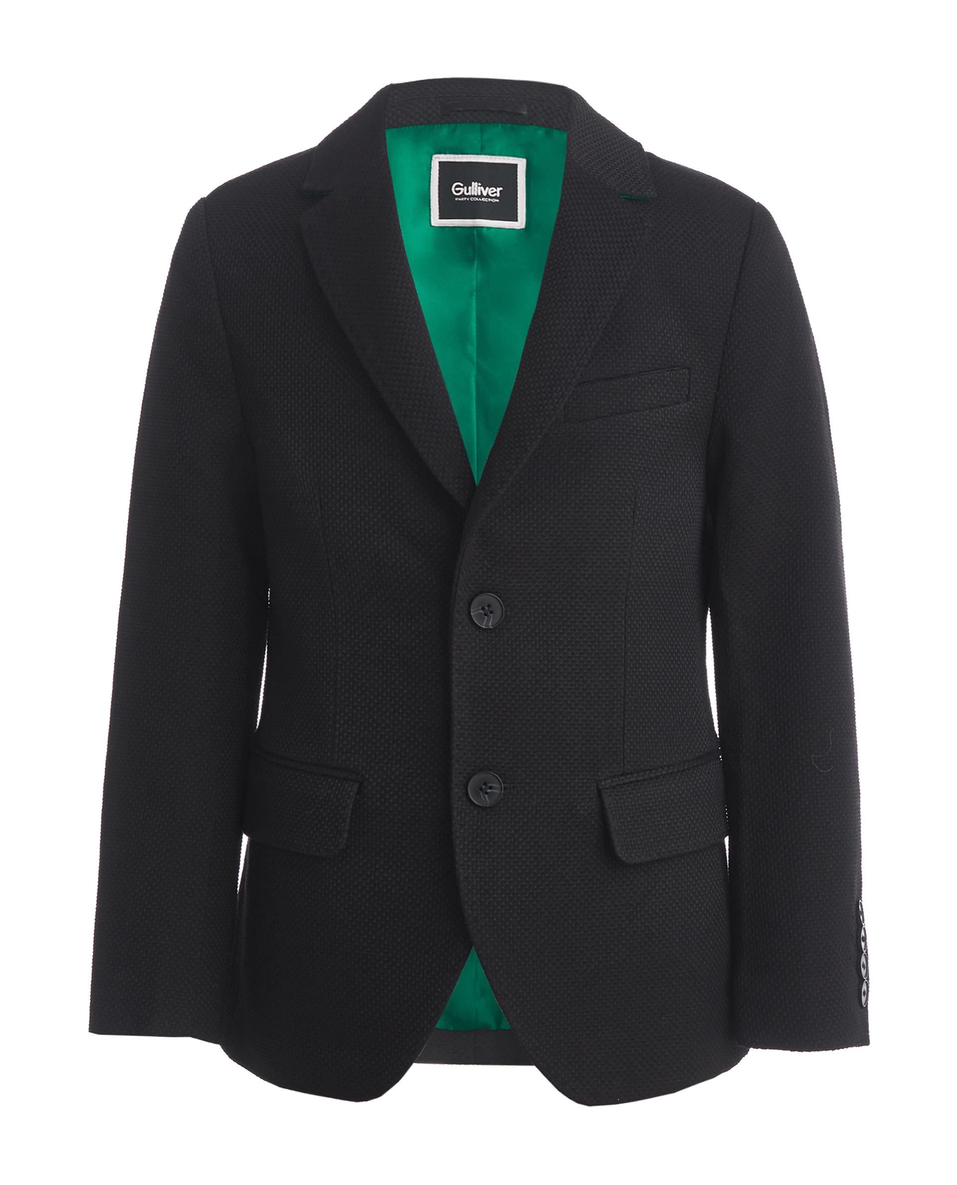 Купить 219GPBJC4801, Черный пиджак Gulliver, черный, 140, Мужской, ОСЕНЬ/ЗИМА 2020-2021 (shop: GulliverMarket Gulliver Market)