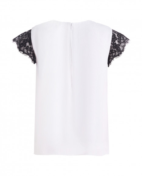 Белая нарядная футболка Gulliver
