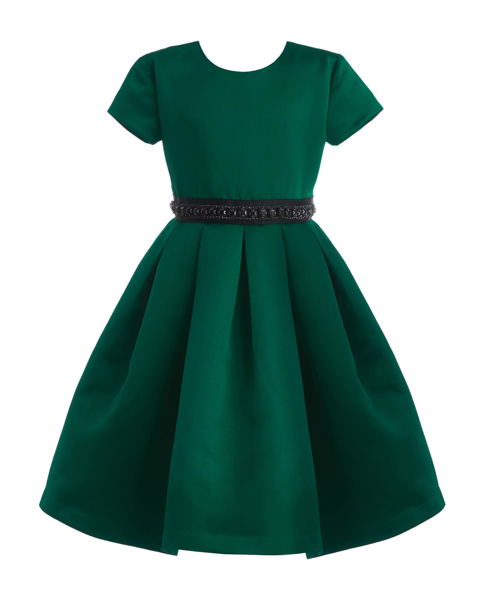 Купить 219GPGMC2501, Зеленое нарядное платье Gulliver, зеленый, 116, Женский, ОСЕНЬ/ЗИМА 2019-2020 (shop: GulliverMarket Gulliver Market)