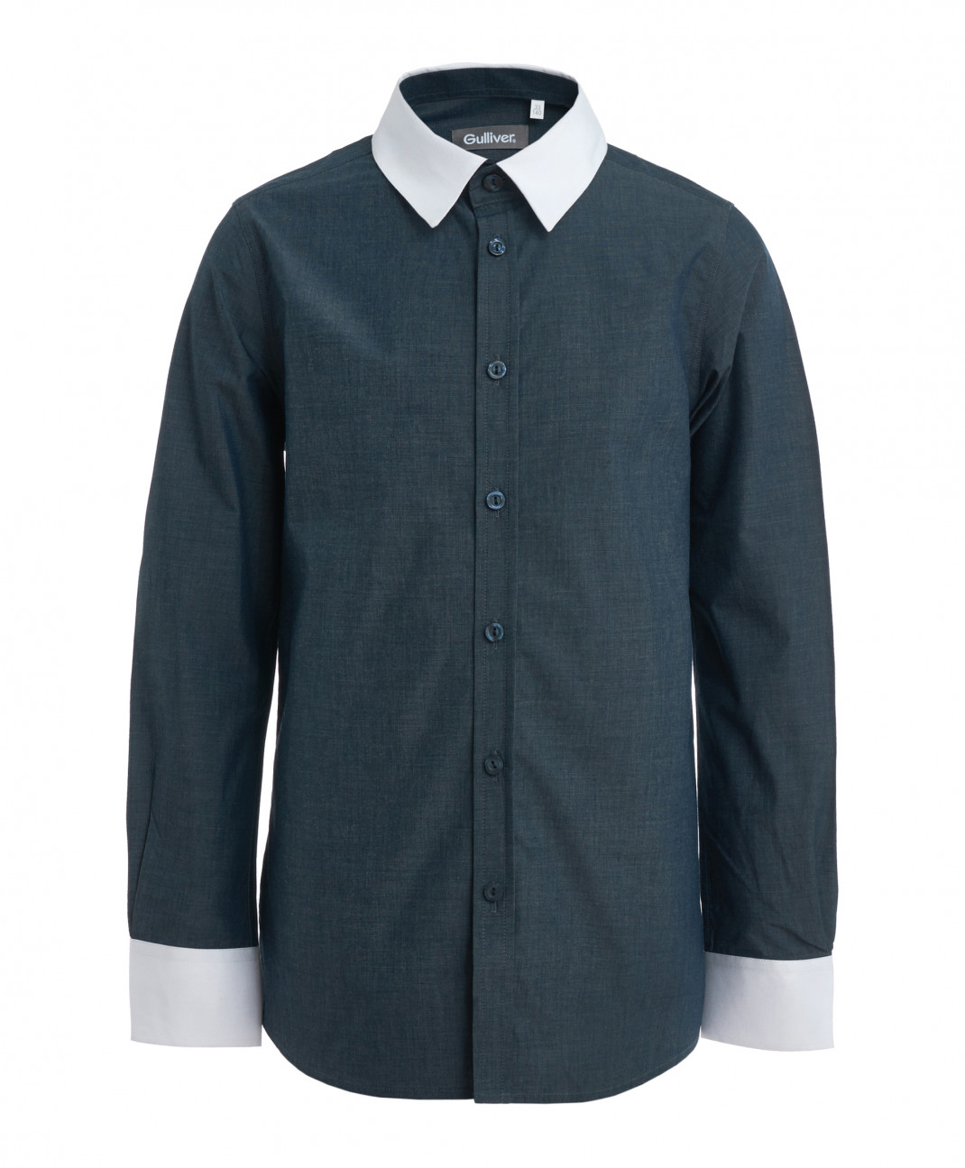 Gulliver Серо-синяя рубашка Gulliver