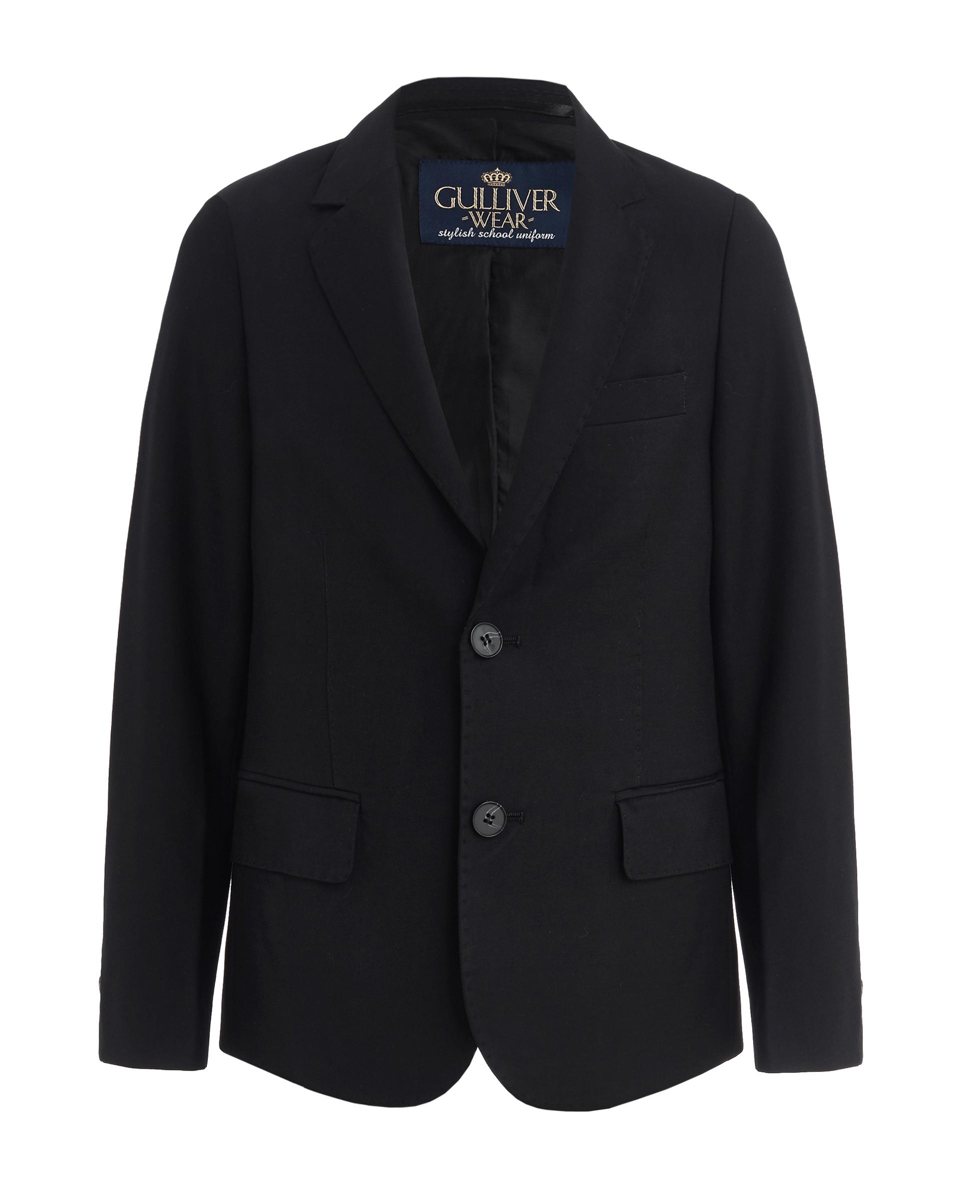 Купить 219GSBC4801, Черный пиджак Gulliver, черный, 170, Мужской, ШКОЛЬНАЯ ФОРМА 2019-2020 (shop: GulliverMarket Gulliver Market)