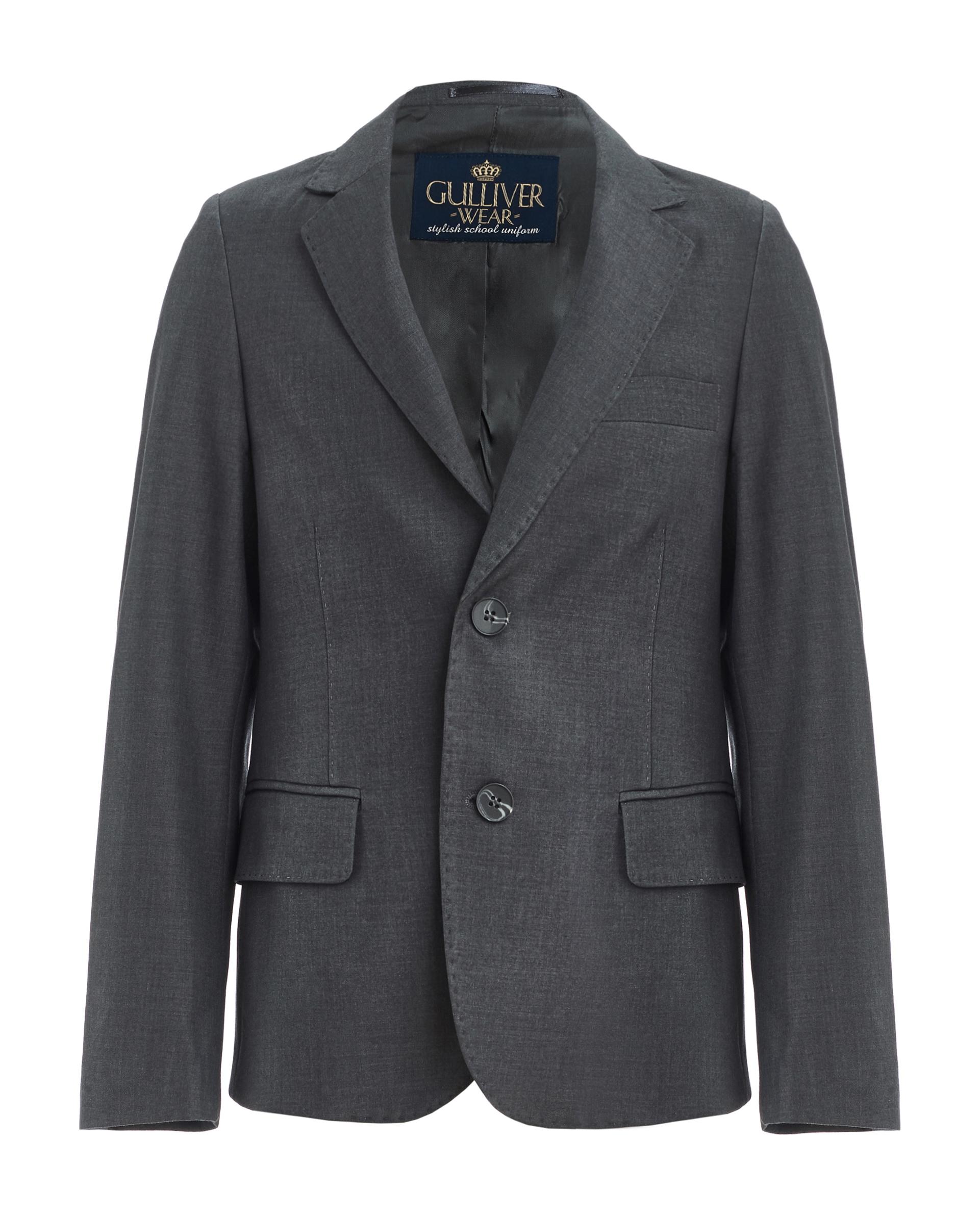Купить 219GSBC4803, Серый пиджак Gulliver, серый, 140, Мужской, ШКОЛЬНАЯ ФОРМА 2019-2020 (shop: GulliverMarket Gulliver Market)