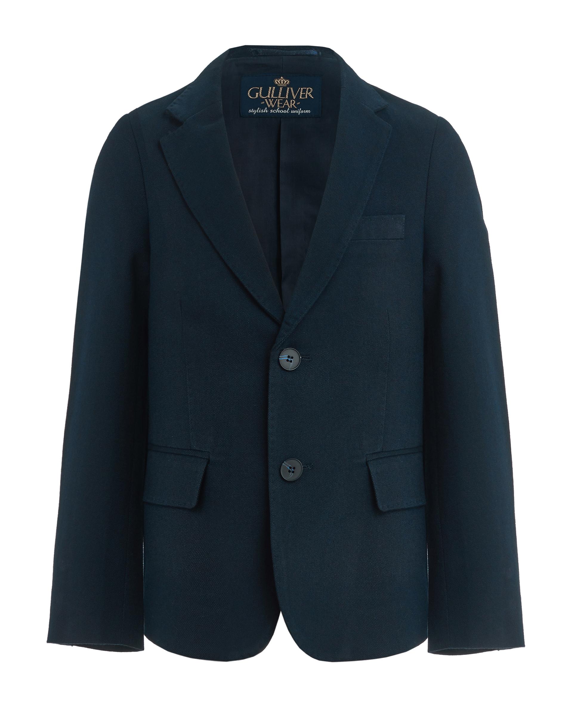 Купить 219GSBC4804, Синий твидовый пиджак Gulliver, синий, 140, Мужской, ШКОЛЬНАЯ ФОРМА 2019-2020 (shop: GulliverMarket Gulliver Market)