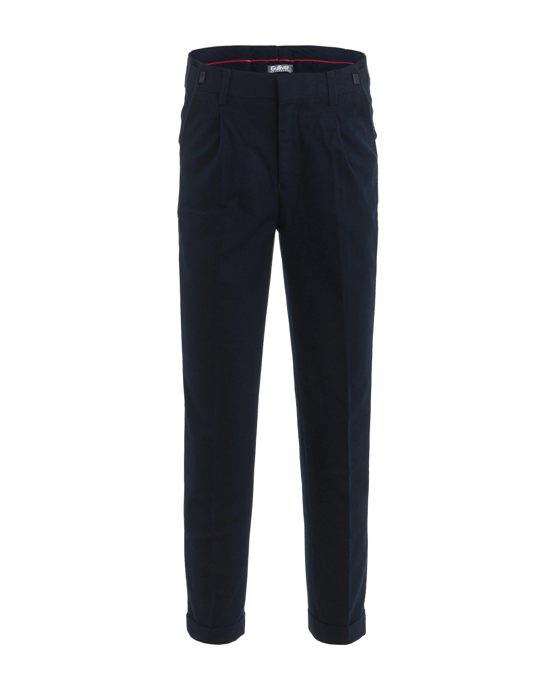 Купить 219GSBC6304, Синие твидовые брюки Gulliver, синий, 128, Мужской, ШКОЛЬНАЯ ФОРМА 2019-2020 (shop: GulliverMarket Gulliver Market)