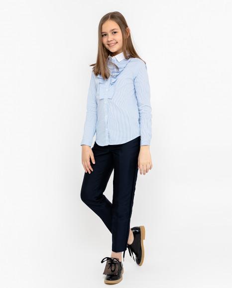 Голубая блузка с длинным рукавом Gulliver